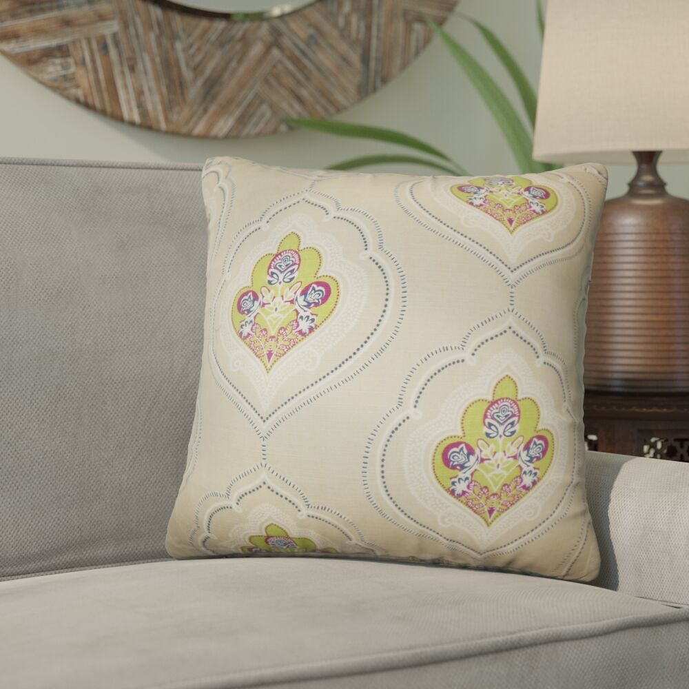 Beauford Floral Throw Pillow Color: Green, Size: 20