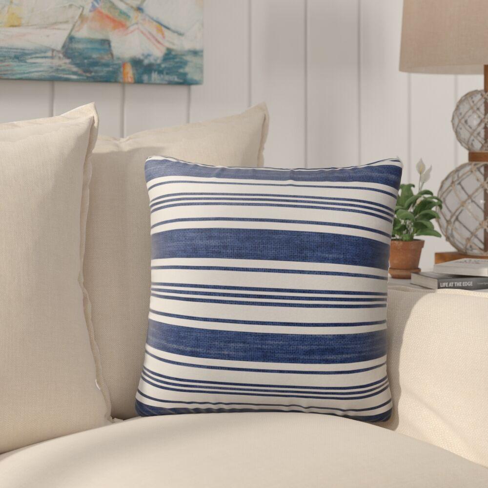 Pinehurst Burlap Striped Indoor/Outdoor Throw Pillow Size: 26