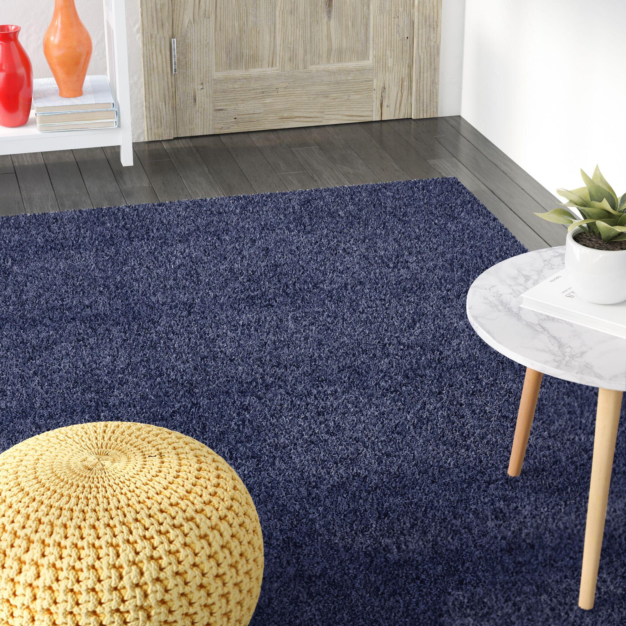 Korte Slate Blue Area Rug Rug Size: Rectangle 8' x 10'
