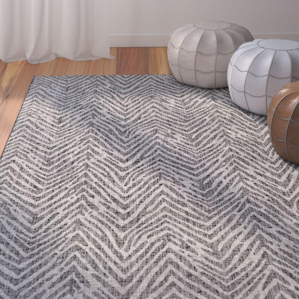 Fonwhary Gray Indoor/Outdoor Area Rug Rug Size: Rectangle 7'10