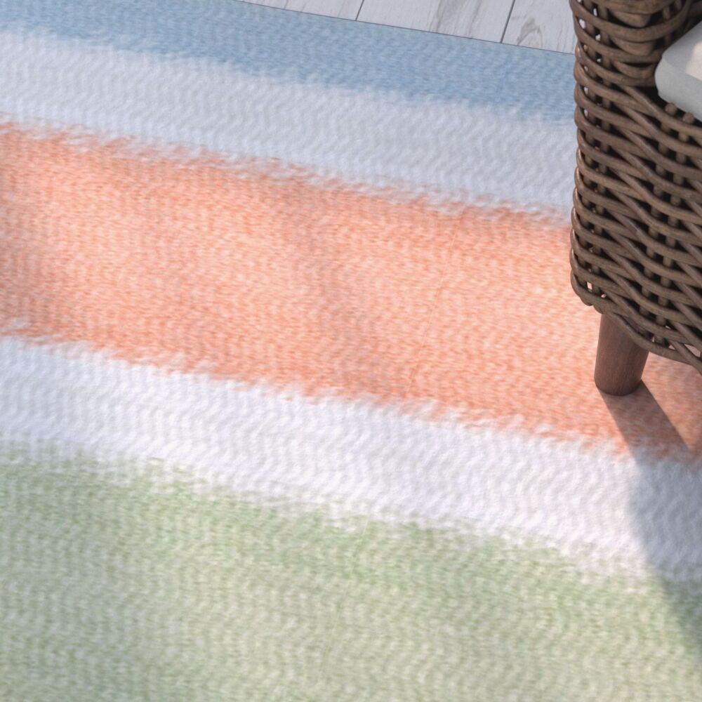 Golden Gate Orange/Blue/Green Indoor/Outdoor Area Rug Rug Size: Rectangle 3' x 5'