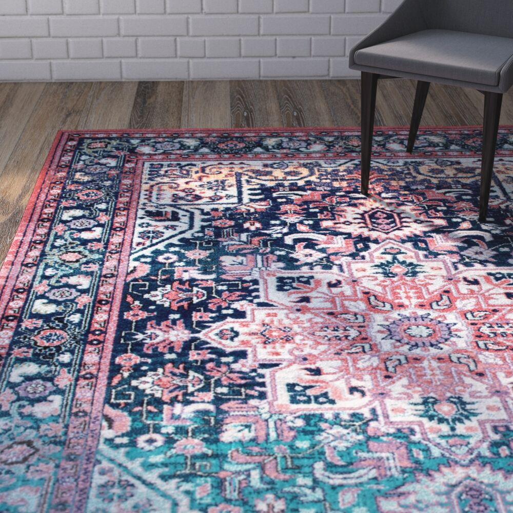 Ardencroft Pink/Blue Area Rug Rug Size: 8' x 10'