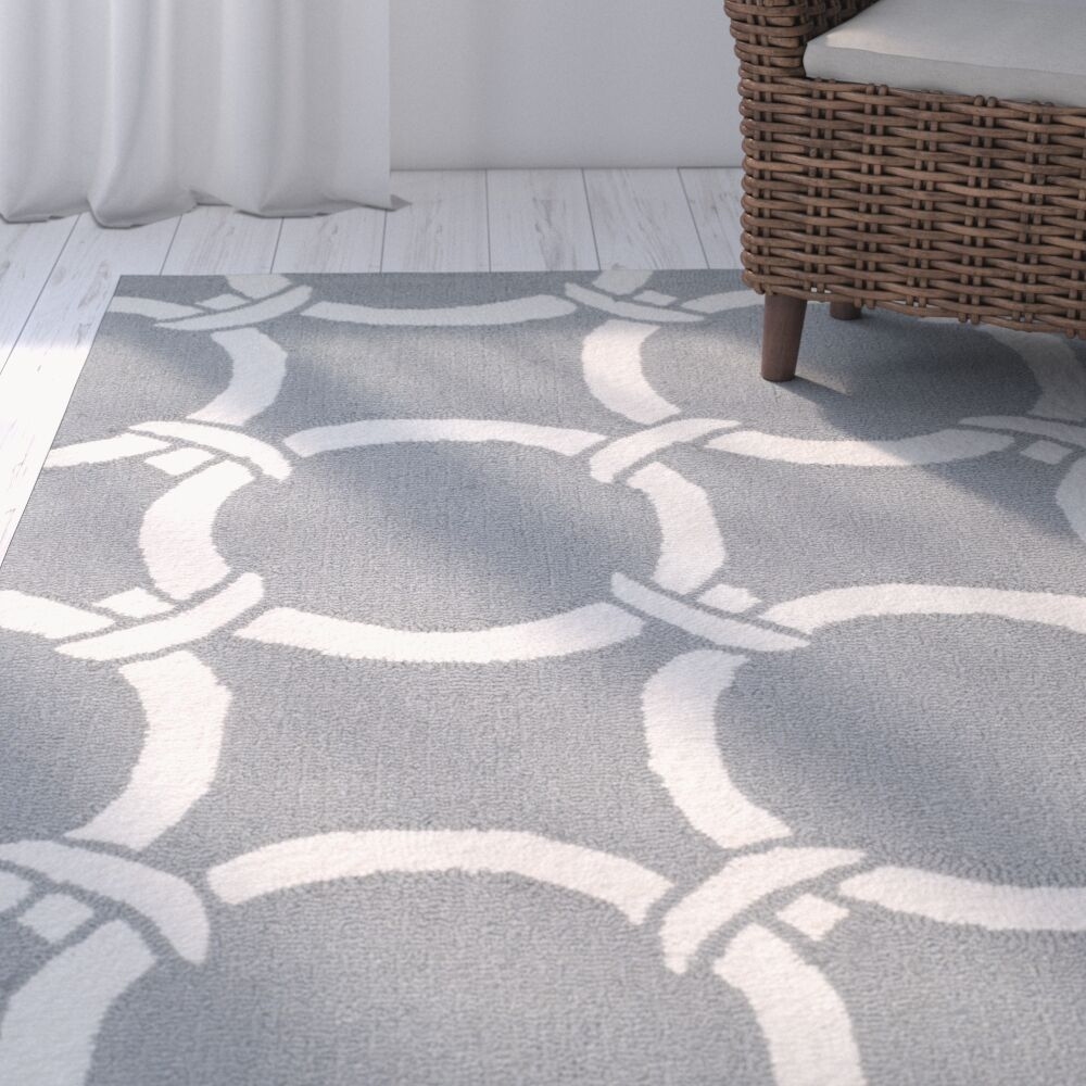 Shorehaven Gray/Ivory Area Rug Rug Size: Rectangle 8' x 10'