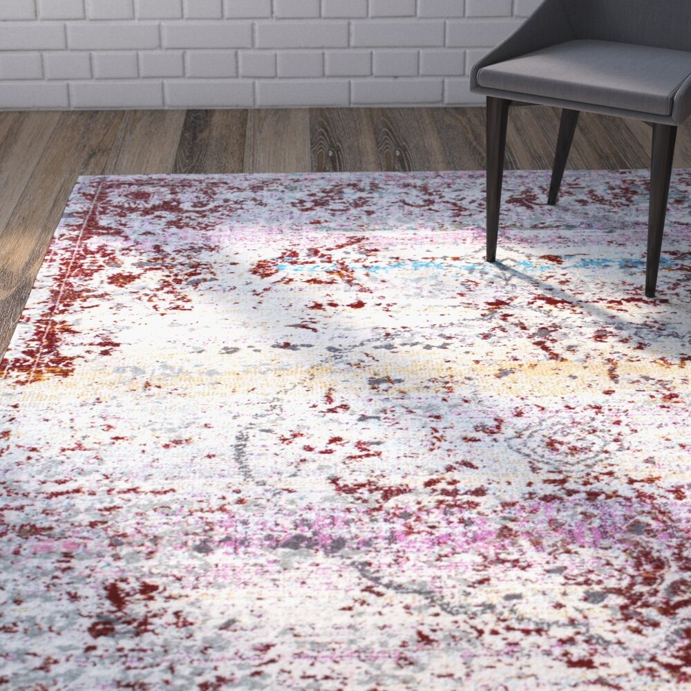 Tindley Rust Area Rug Rug Size: 5'3