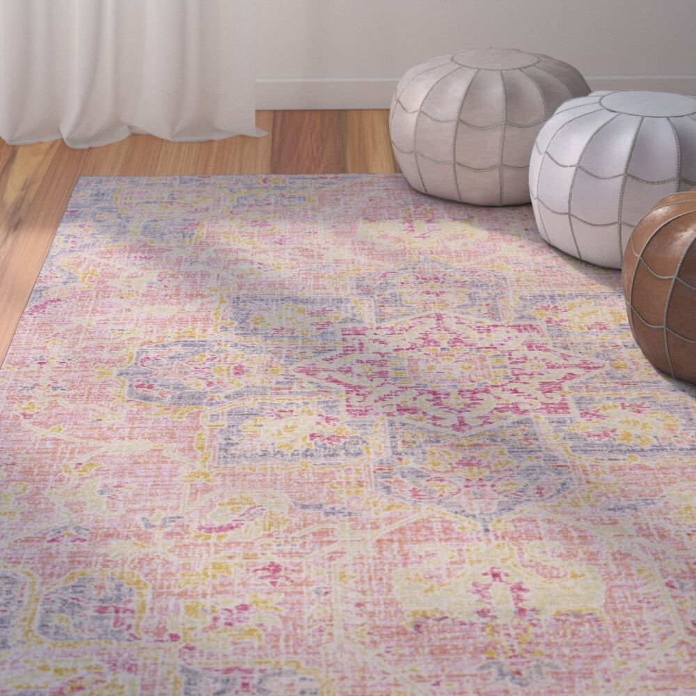 Lyngby-Taarbæk Lilac Area Rug Rug Size: Rectangle 3' x 5'