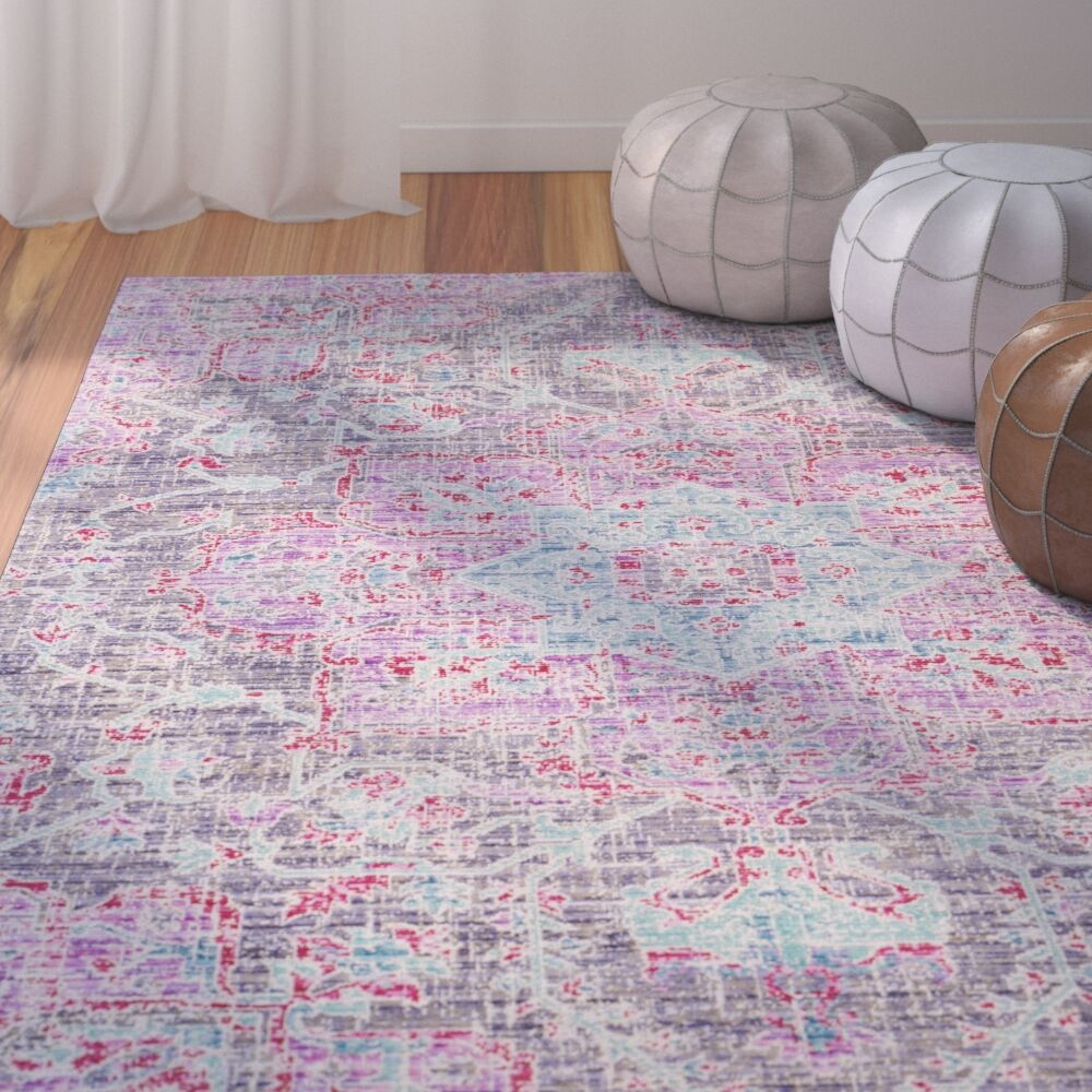 Lyngby-Taarbæk Lavender Area Rug Rug Size: Rectangle 3' x 5'