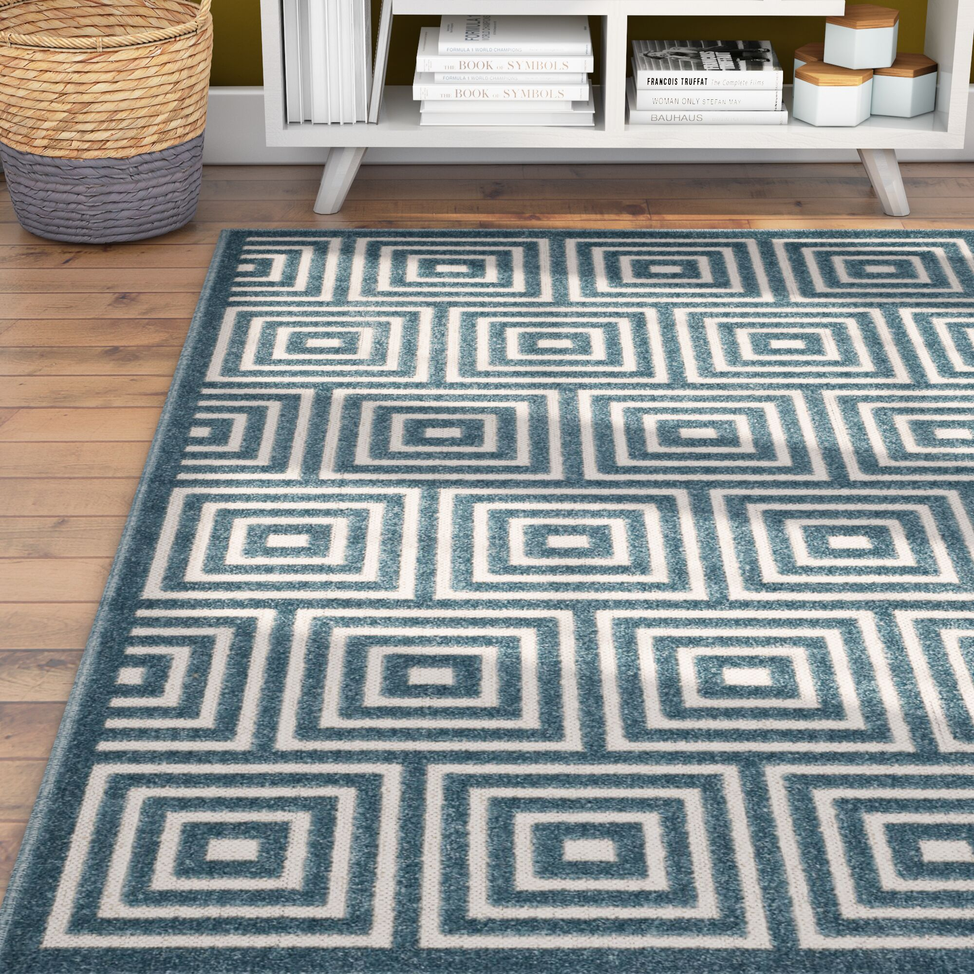 Candor Contemporary Blue Outdoor Area Rug Rug Size: Rectangle 9' x 12'