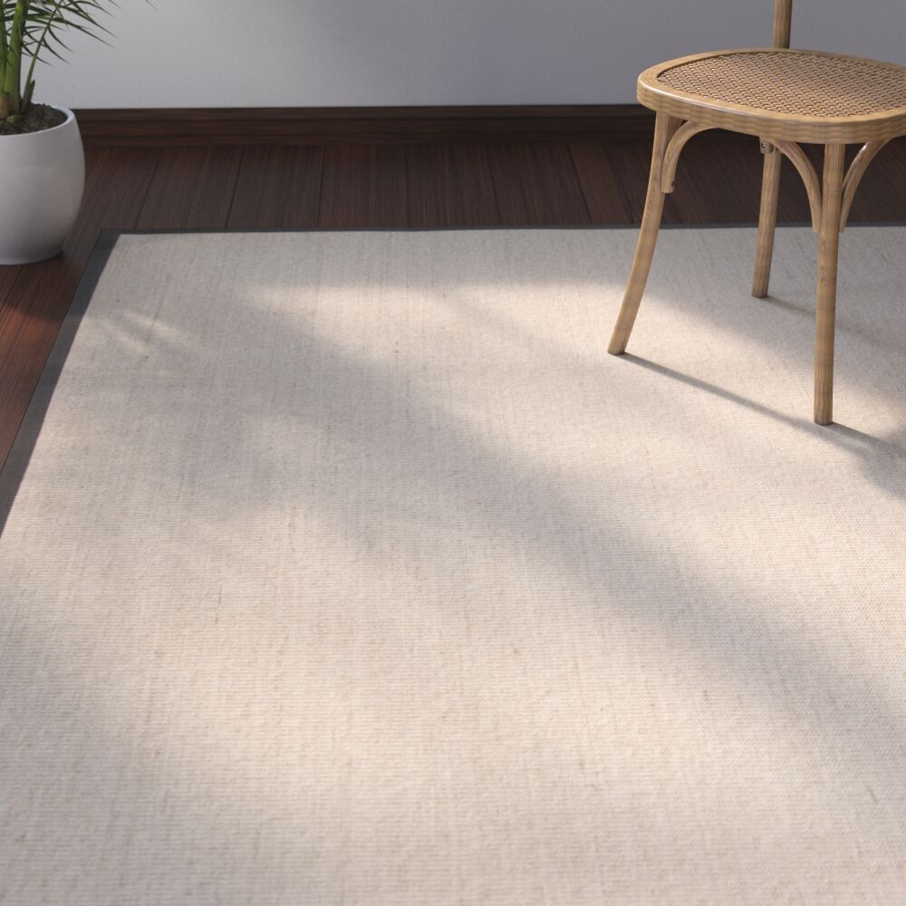 Morfou Natural/Dark Gray Area Rug Rug Size: Runner 2'6