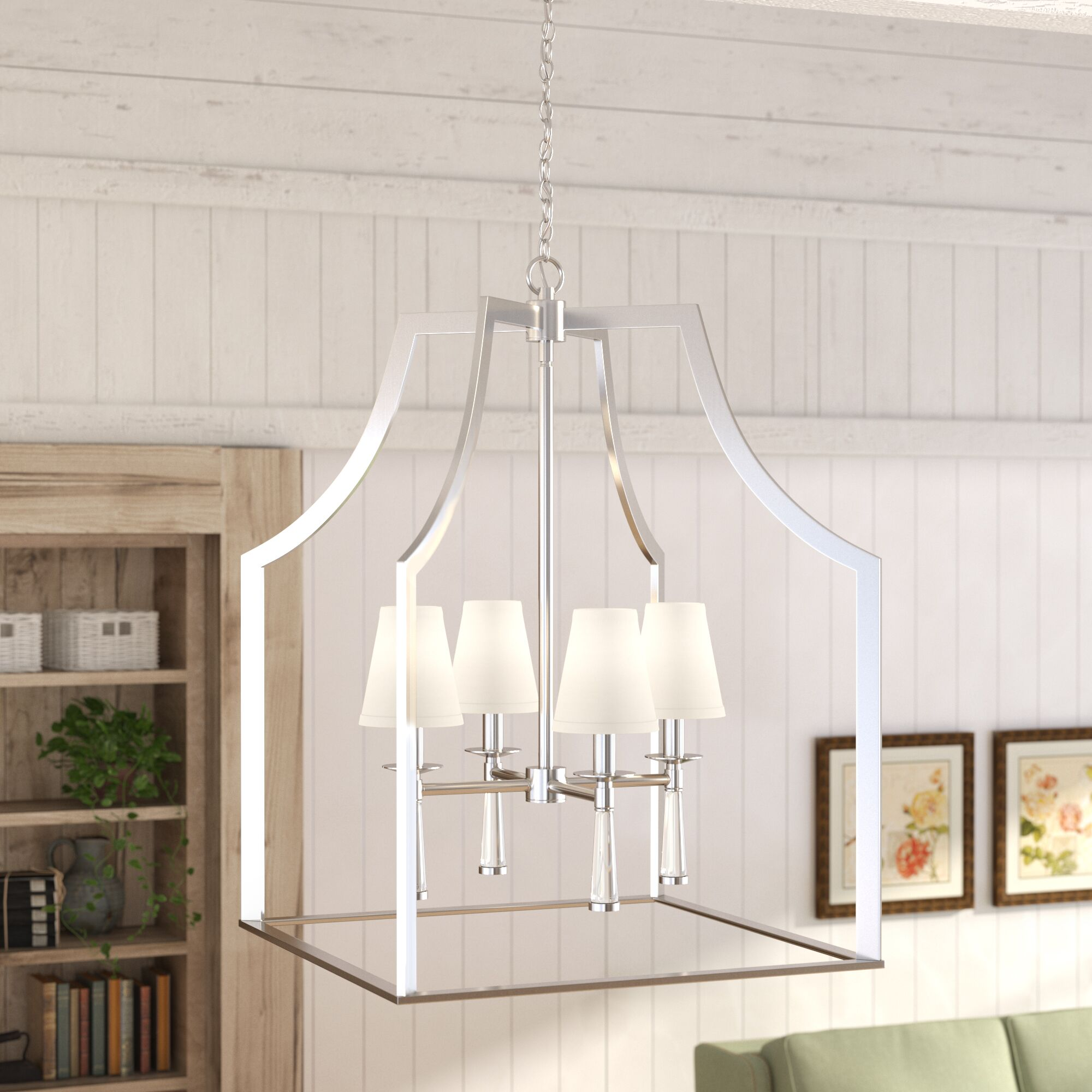 Indimar 4-Light Lantern Pendant Finish: Polished Nickel