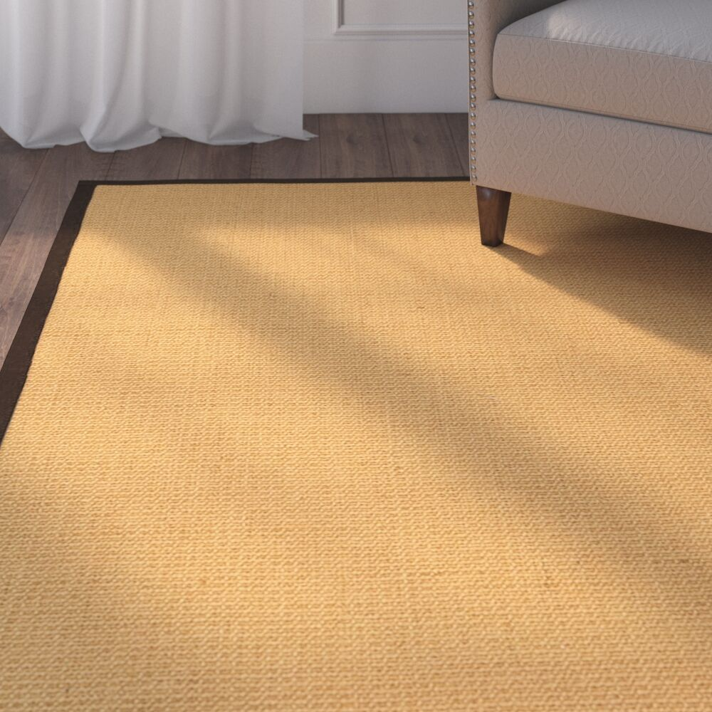 Buggs Fiber Hand Woven Sisal Brown/Fudge Area Rug with Rug Pad Rug Size: Rectangle 5' x 8'
