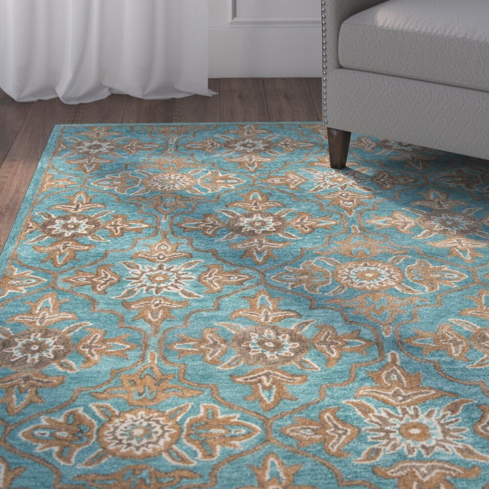 Cranmore Hand-Tufted Green/Beige Area Rug Rug Size: Rectangle 5' x 8'