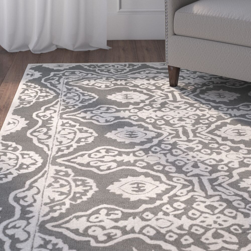 Amundson Hand-Tufted Gray/Ivory Area Rug Rug Size: Runner 2'3