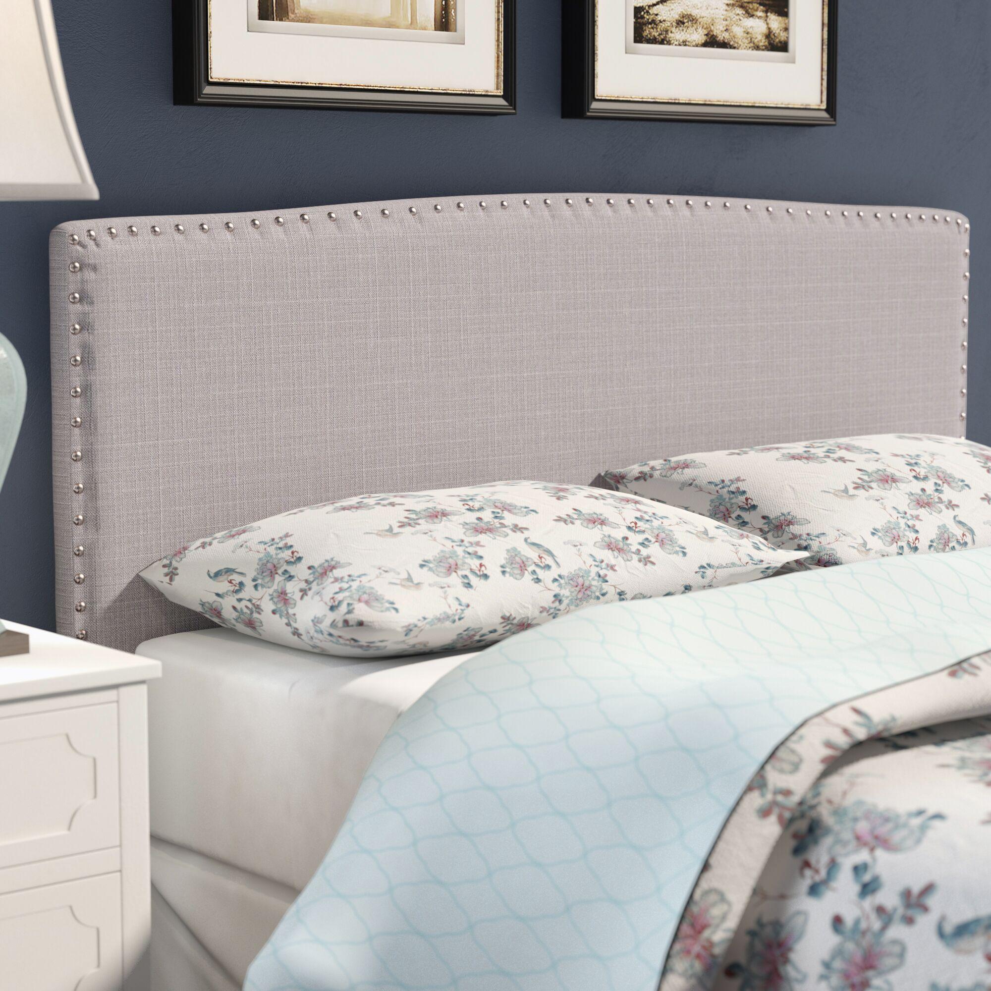 Harmonsburg Upholstered Panel Headboard Size: Full / Queen, Upholstery: Taupe