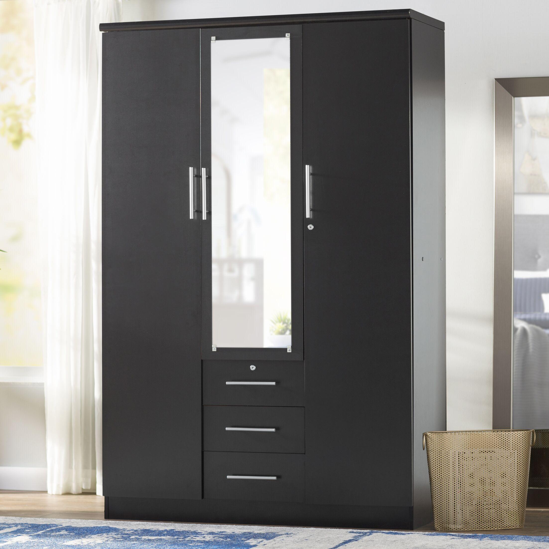 Rasmussen 3 Door Armoire Finish: Black