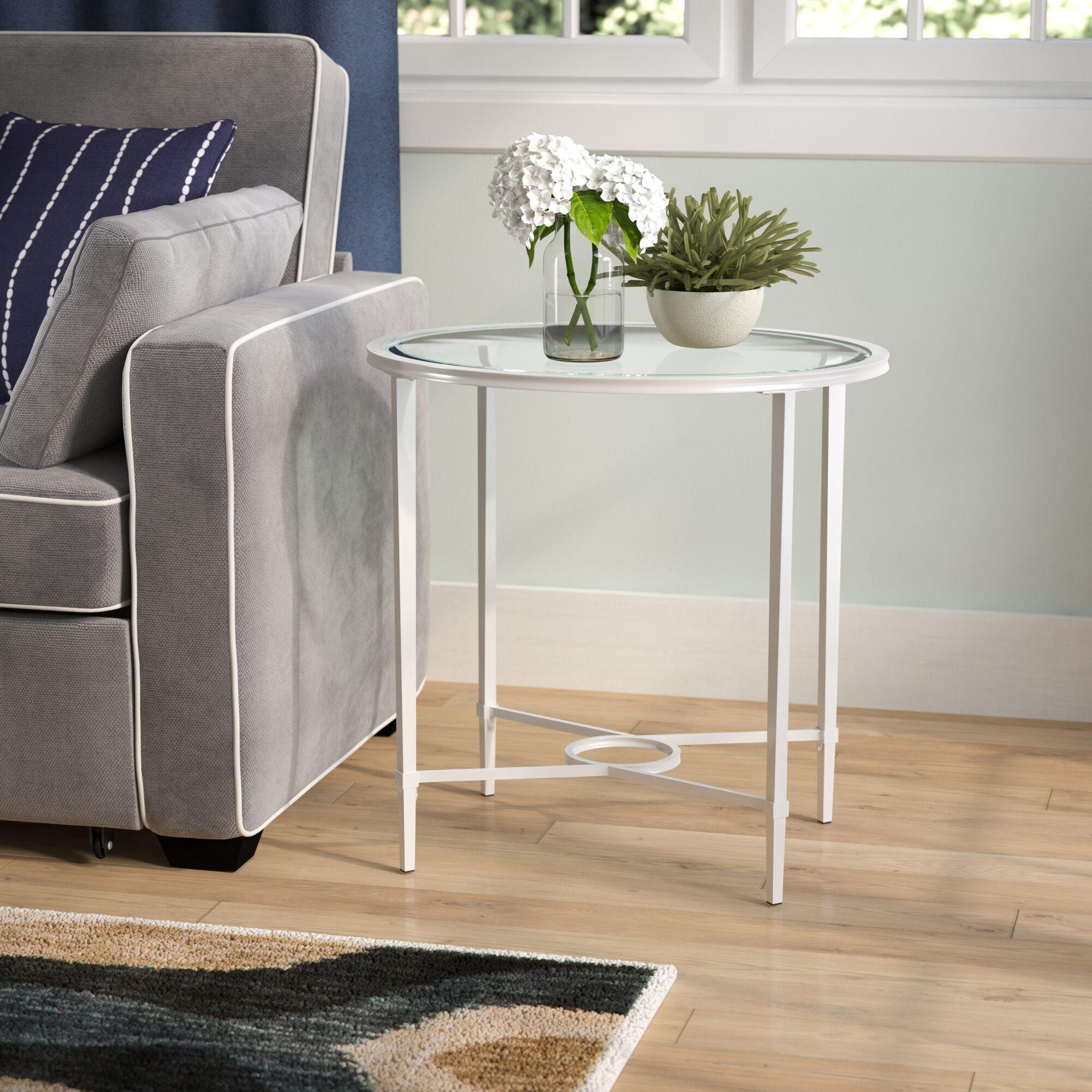 Buloke End Table Color: Silver