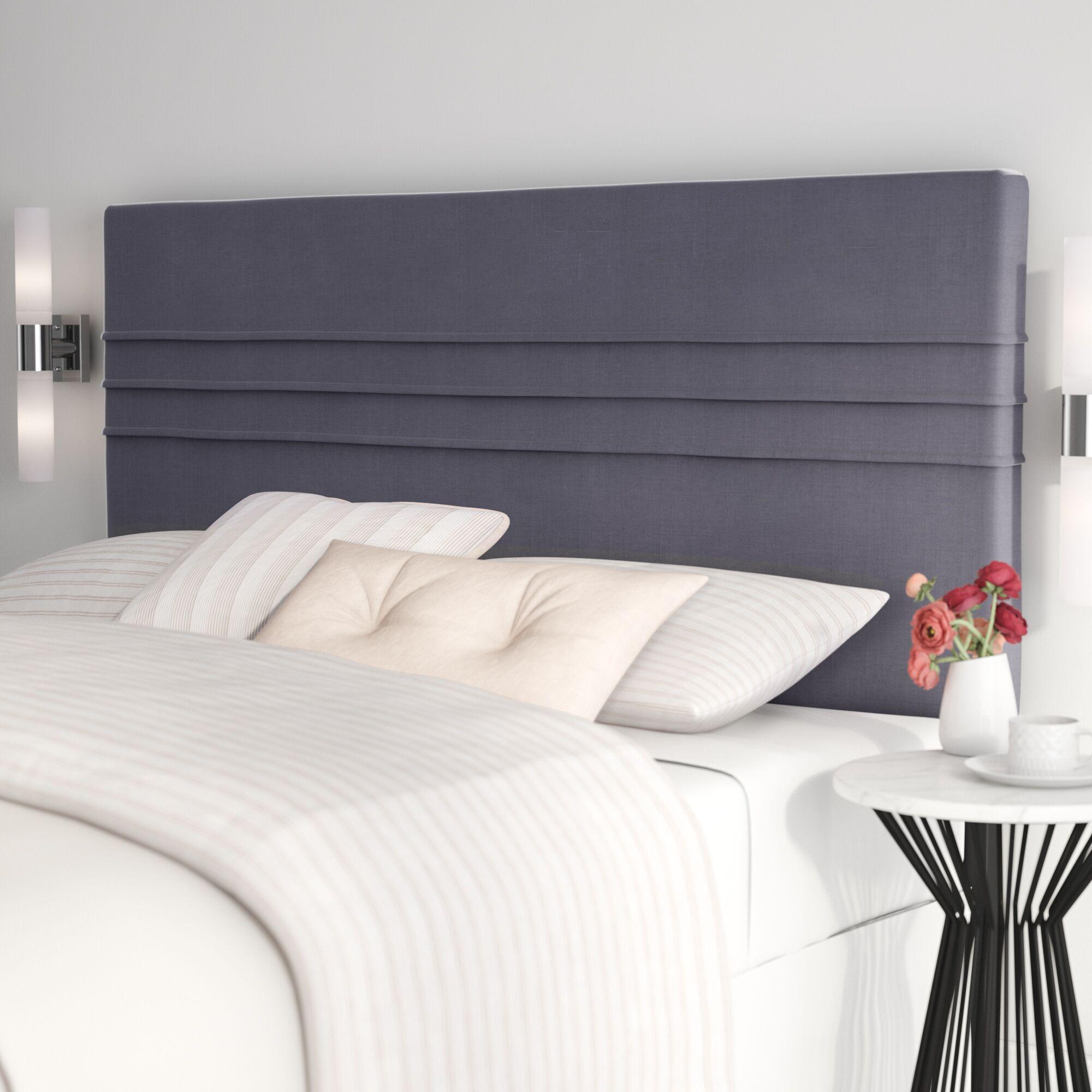 Amazonia Upholstered Panel Headboard Upholstery: Latte Dark Brown, Size: King