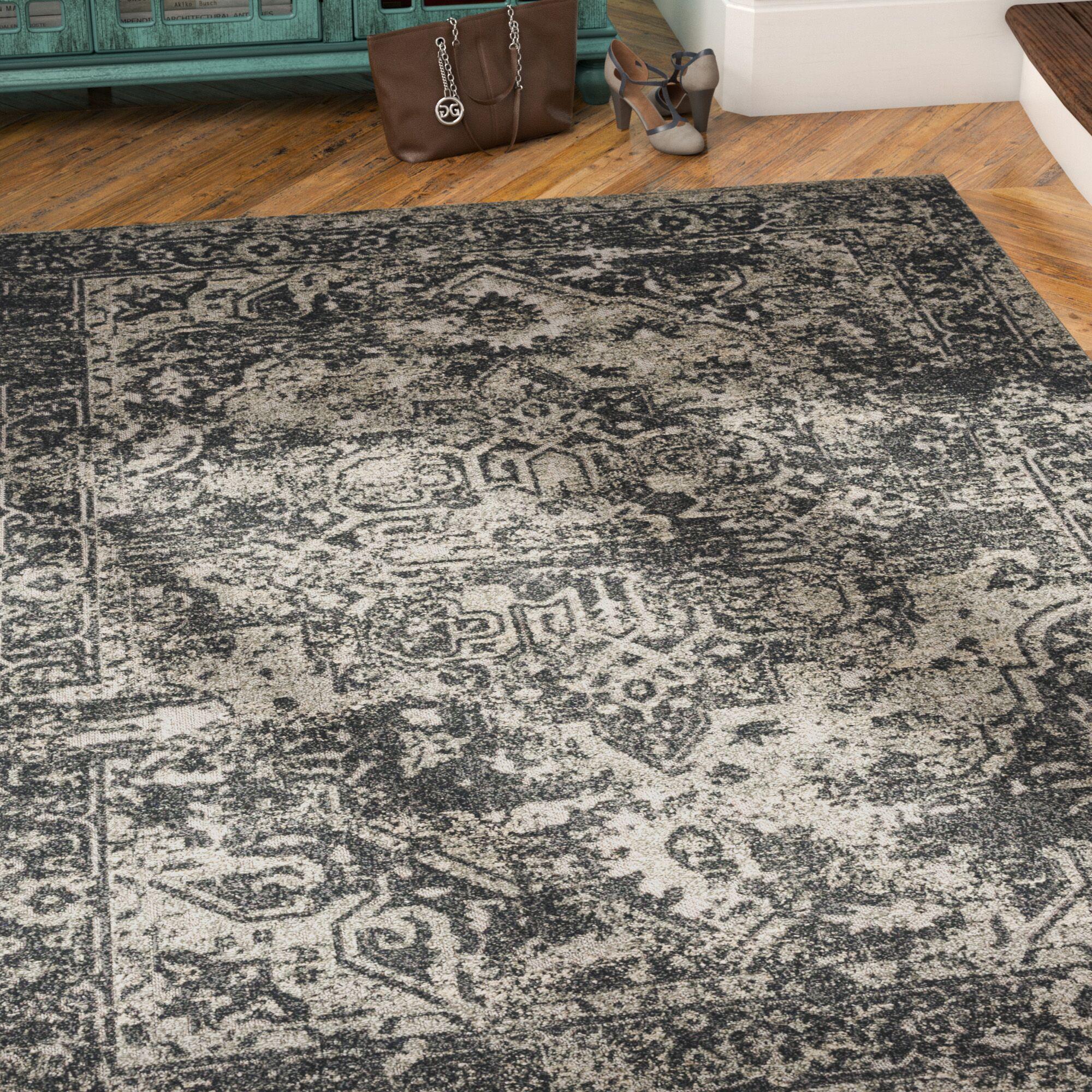 Angus Black/Khaki Indoor/Outdoor Area Rug Rug Size: Rectangle 5'3