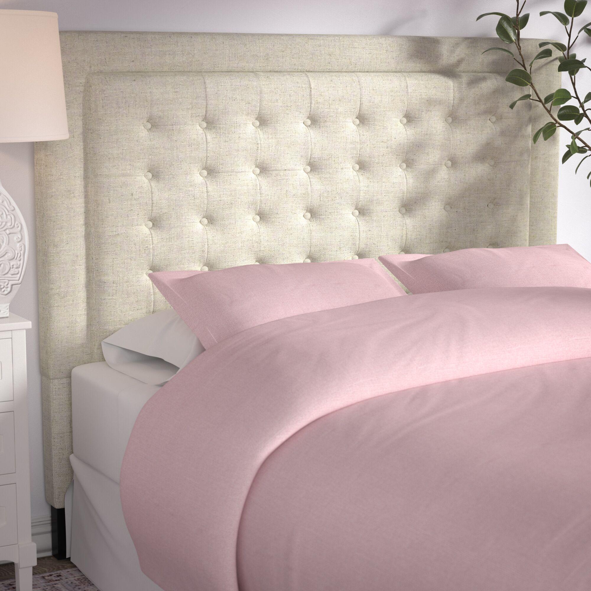 Woodside Upholstered Panel Headboard Size: Queen, Upholstery: Beige