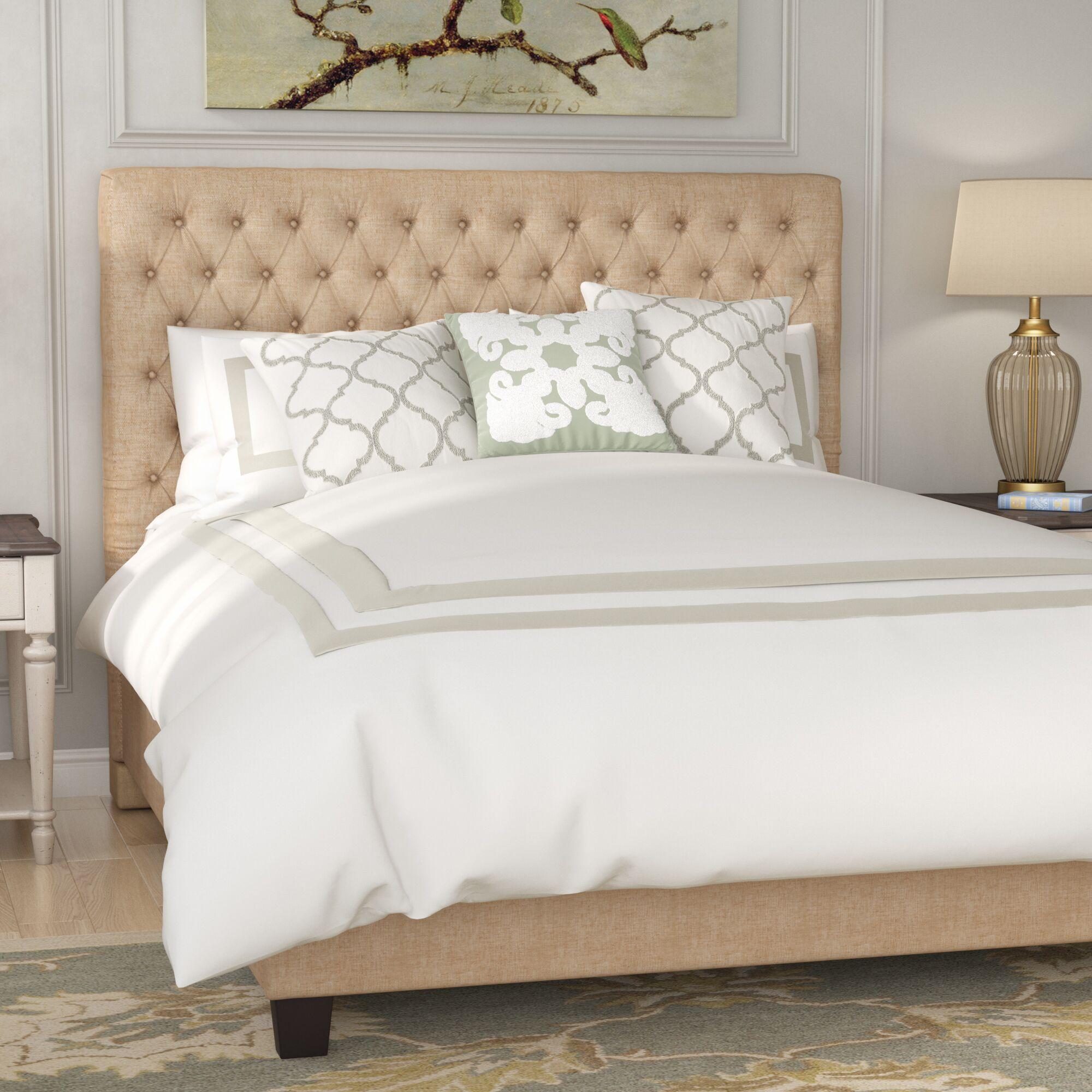 Fresnes Upholstered Panel Bed Size: Full, Headboard Color: Dark Beige