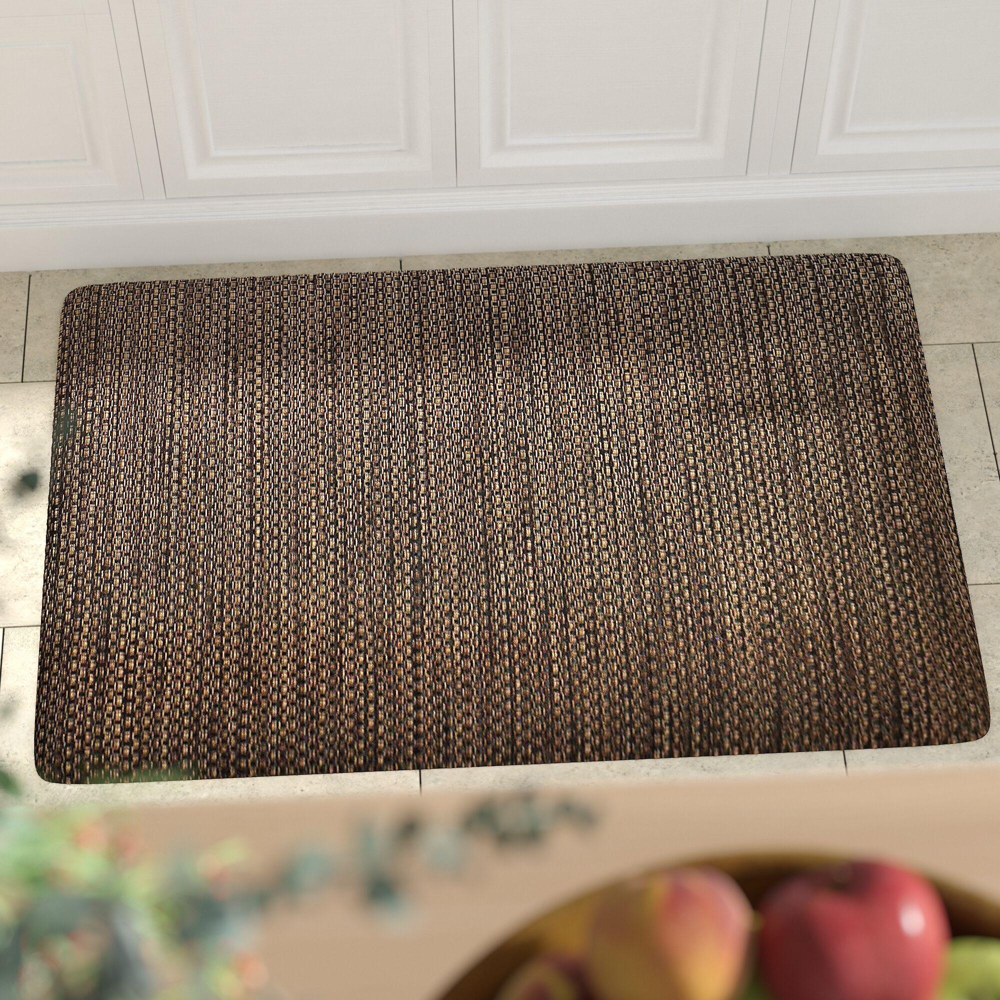 Torrick Comfort Kitchen Mat Mat Size: Rectangle 2' x 6', Color: Black Wicker