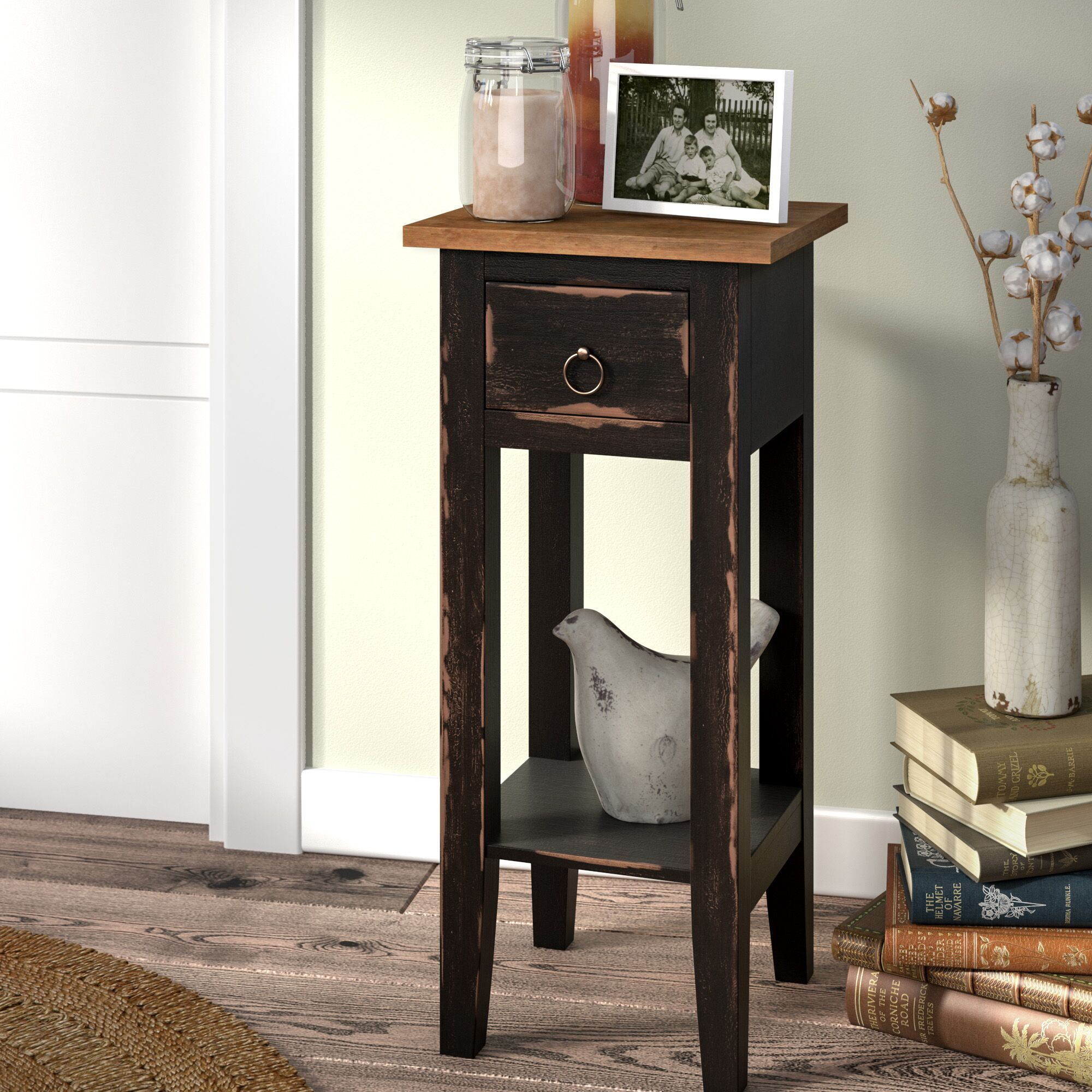 Tompkins Narrow End Table Color: Painted