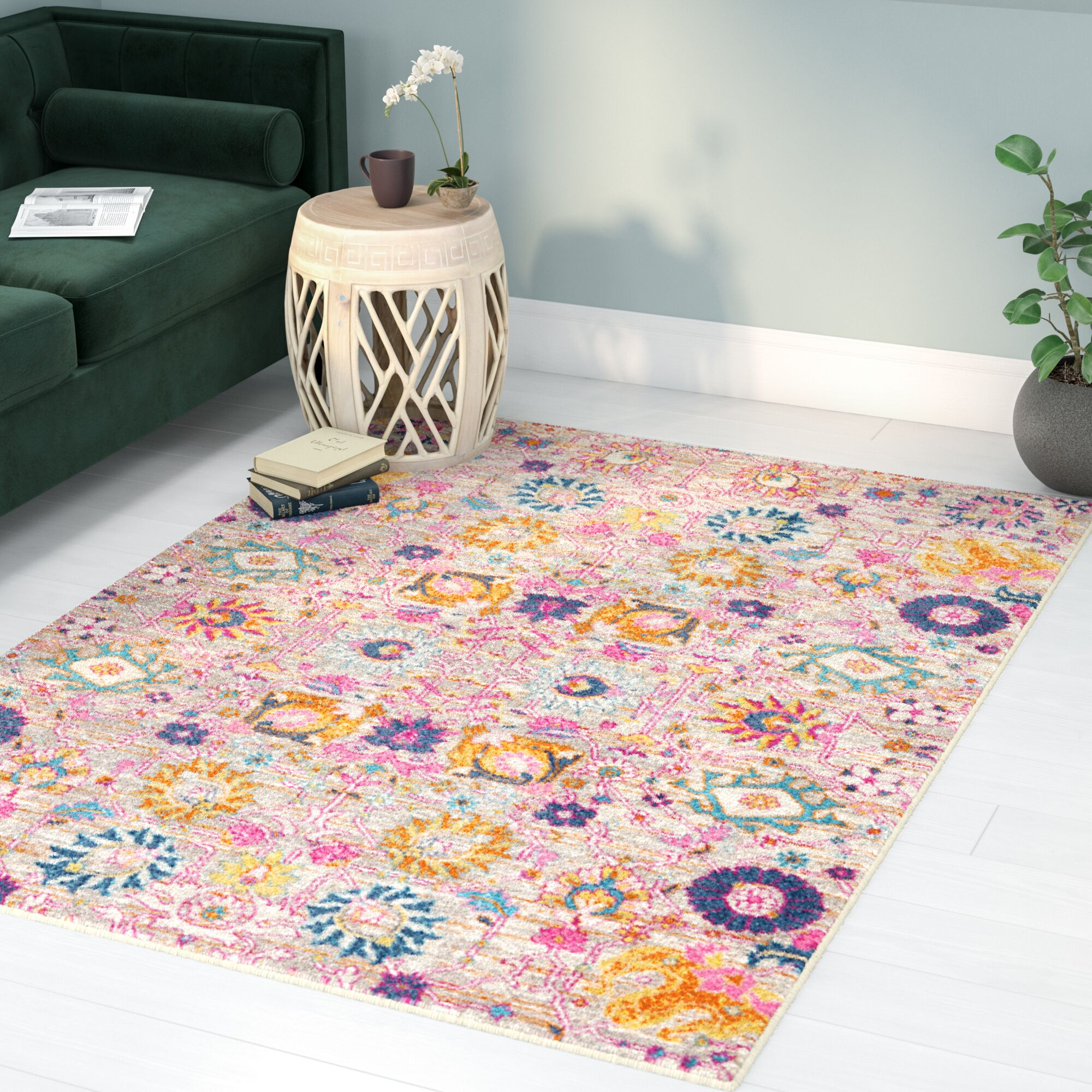 Shortwood Silver Indoor Area Rug Rug Size: Rectangle 5'3