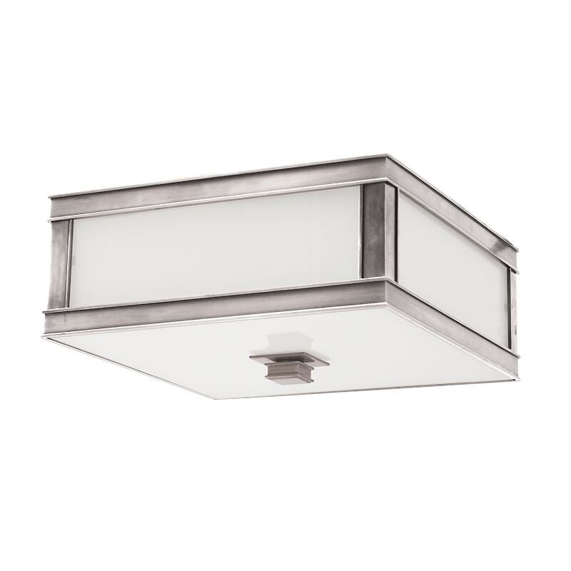 Destanee 2-Light Flush Mount Fixture Color: Historic Nickel