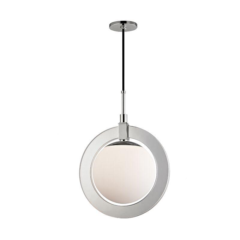 Norris 1-Light LED Globe Pendant Finish: Polished Nickel, Size: 20.75