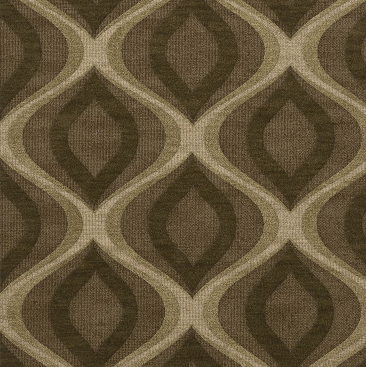 Estelle Wool Oasis Area Rug Rug Size: Square 4'