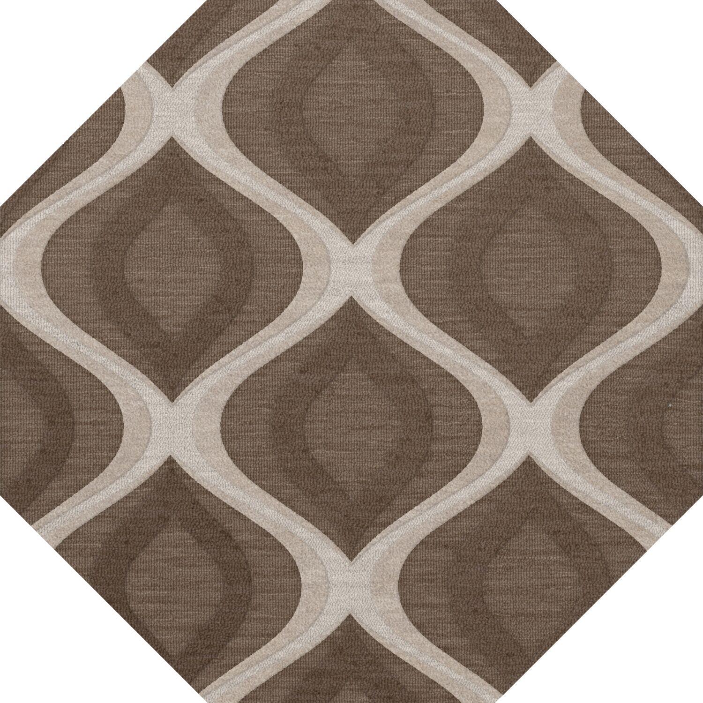 Kaidence Wool Pebble Area Rug Rug Size: Octagon 8'