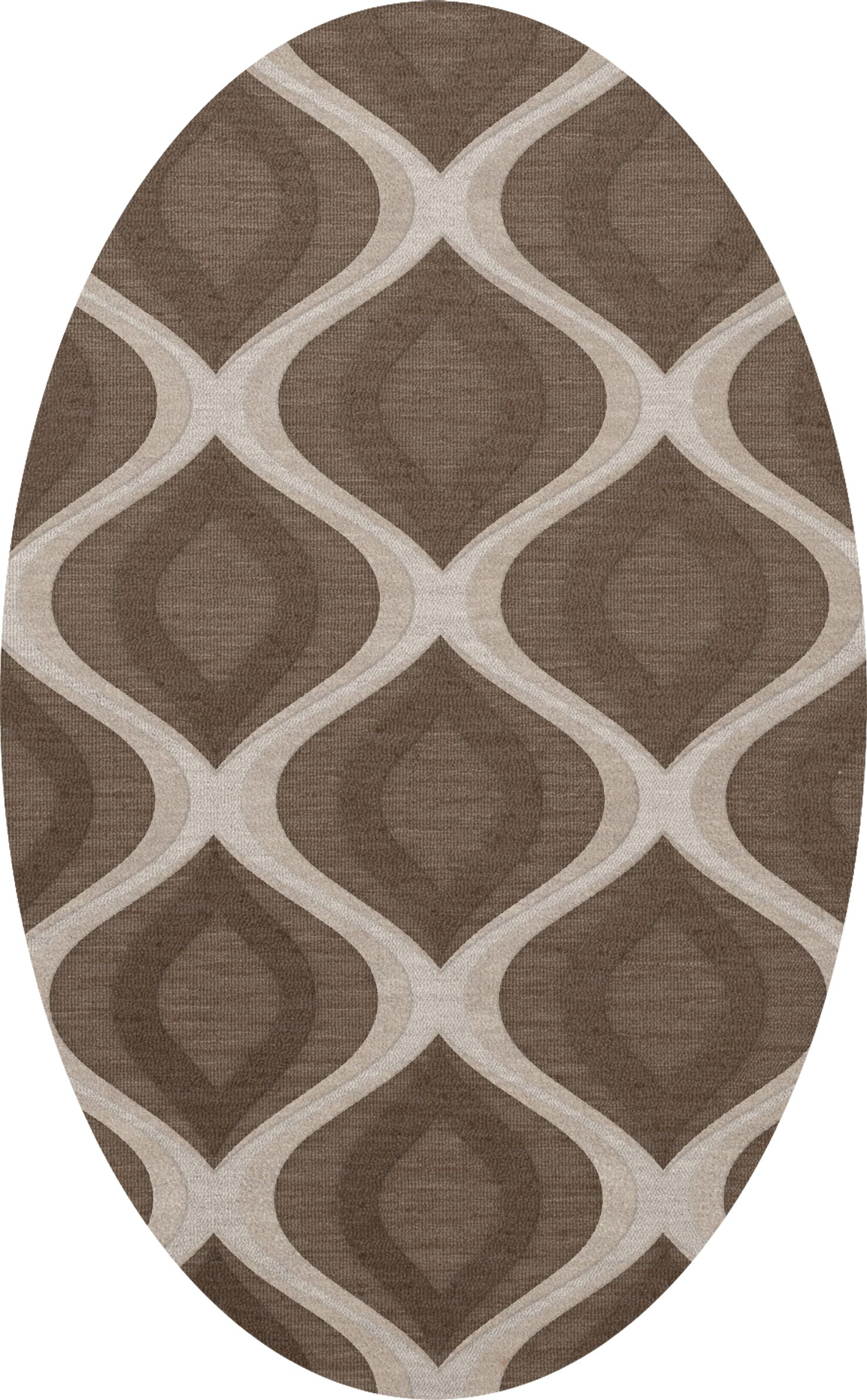 Kaidence Wool Pebble Area Rug Rug Size: Oval 9' x 12'