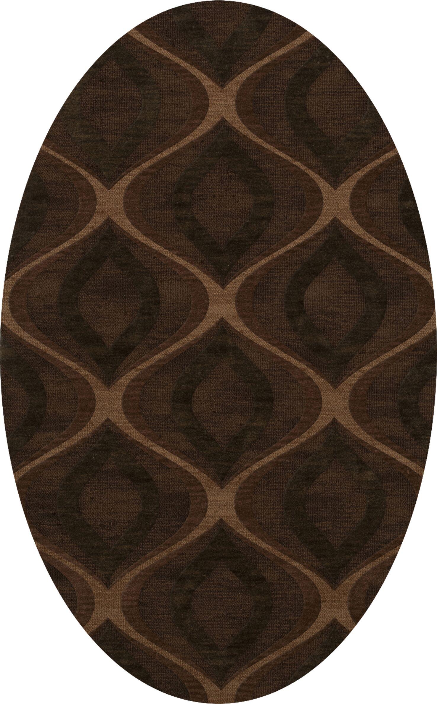 Sarahi Wool Pinecone Area Rug Rug Size: Oval 4' x 6'