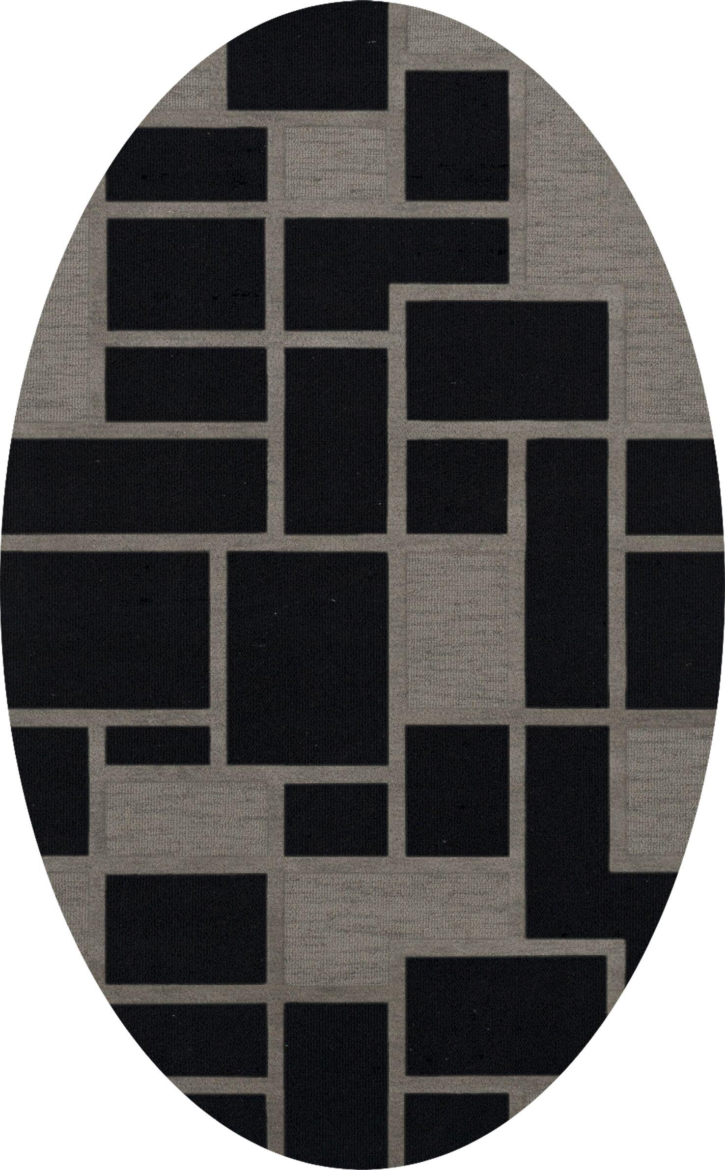Haledon Wool Blackstone Area Rug Rug Size: Oval 9' x 12'