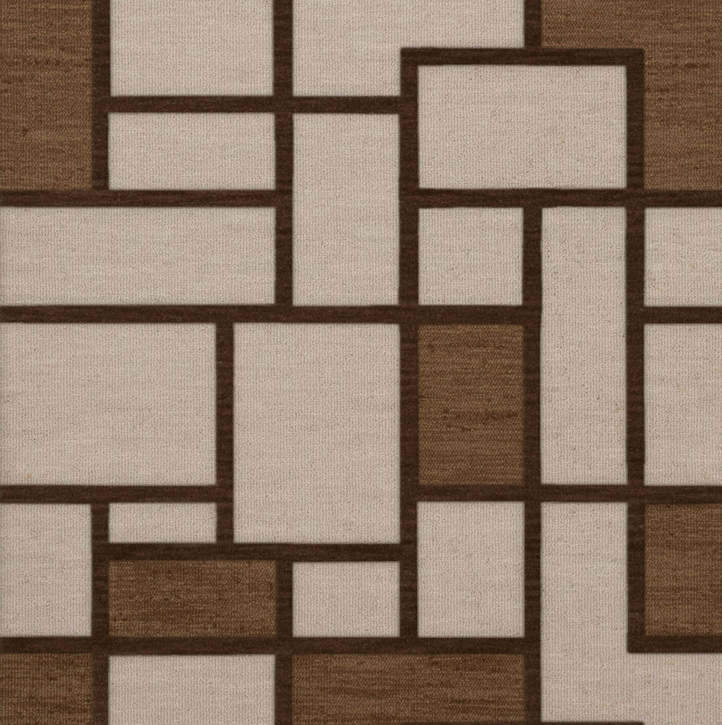 Halford Wool Earth Area Rug Rug Size: Square 4'
