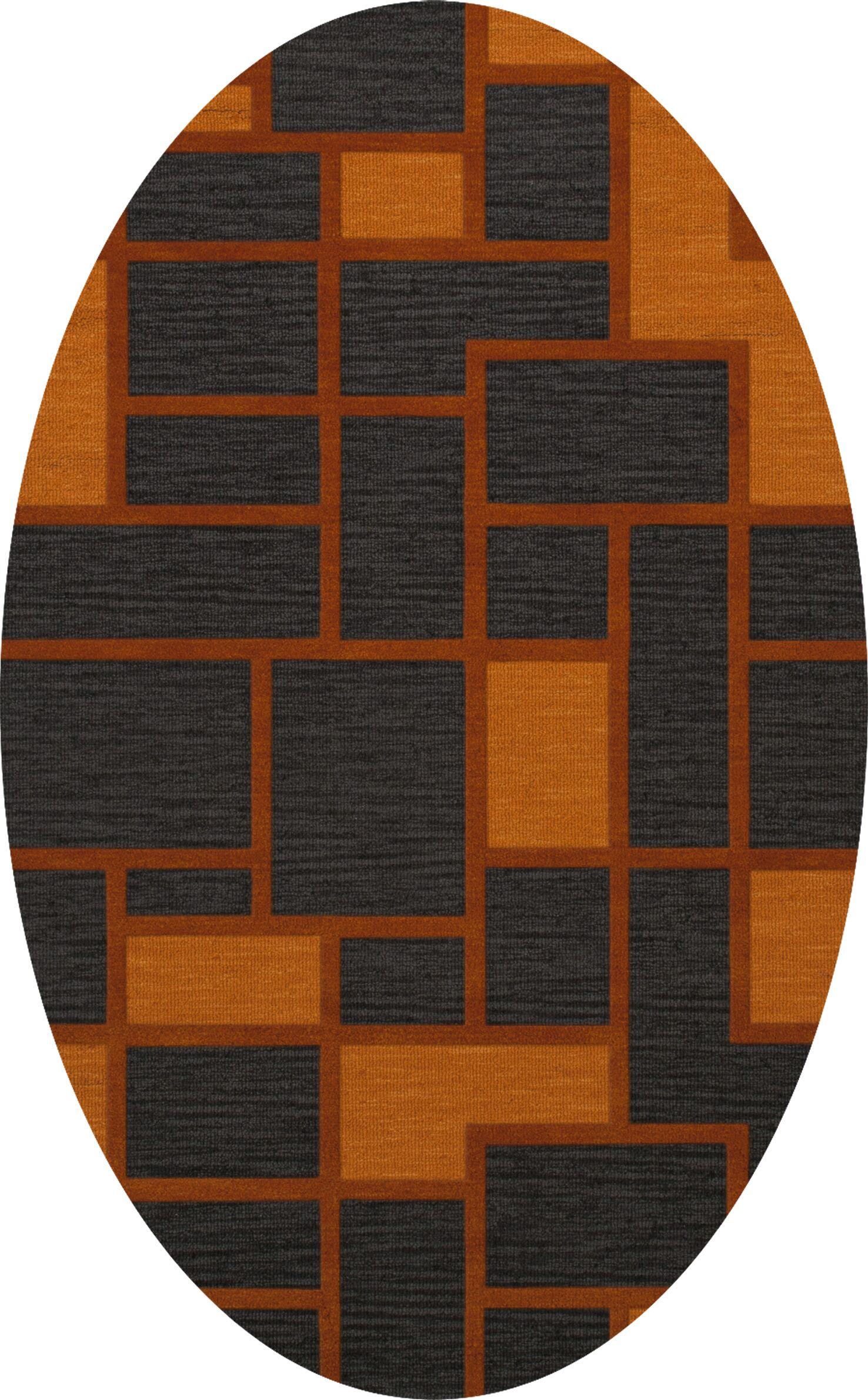 Halina Wool Fog Area Rug Rug Size: Oval 12' x 18'