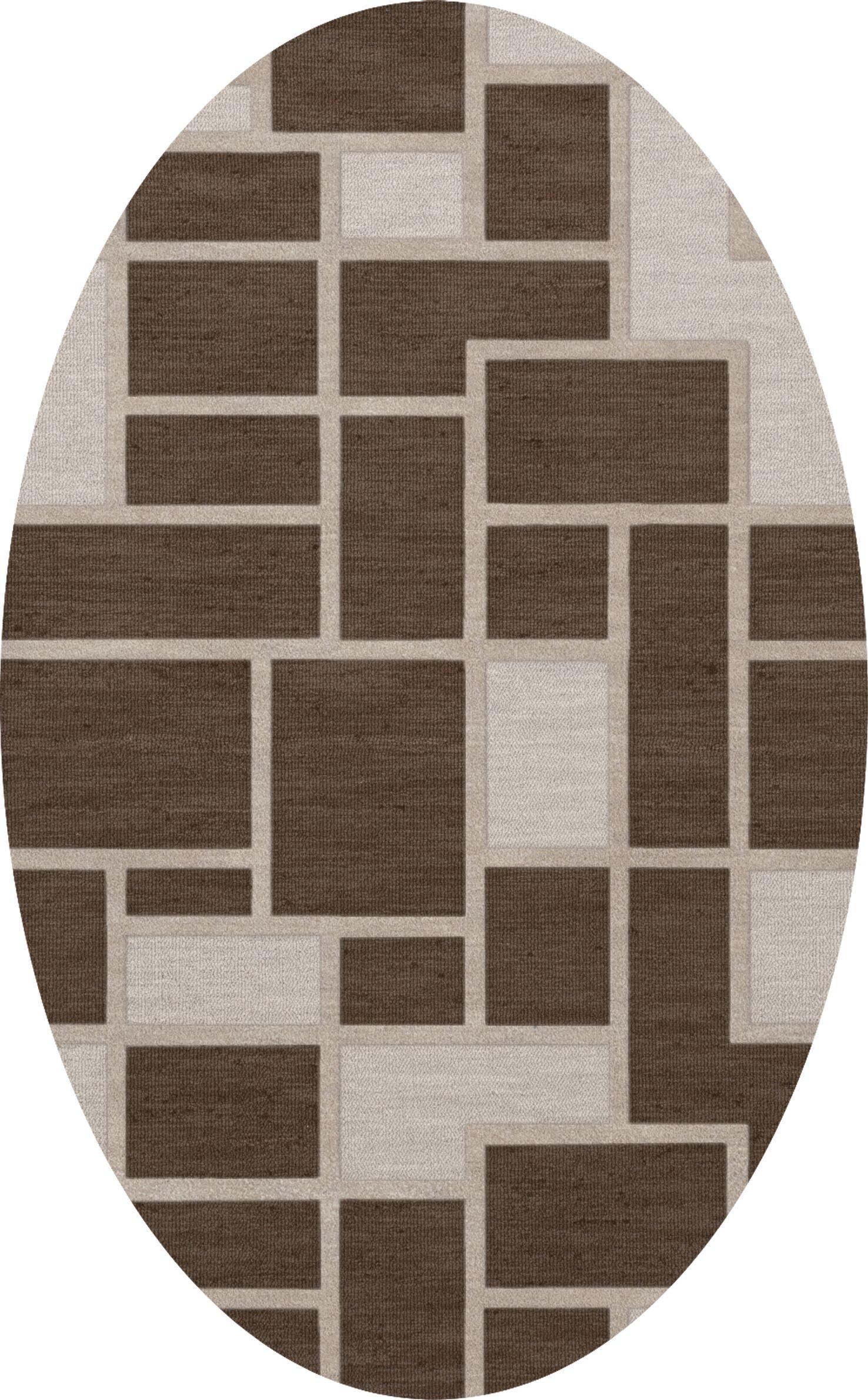 Hallberg Wool Saddle Area Rug Rug Size: Oval 3' x 5'