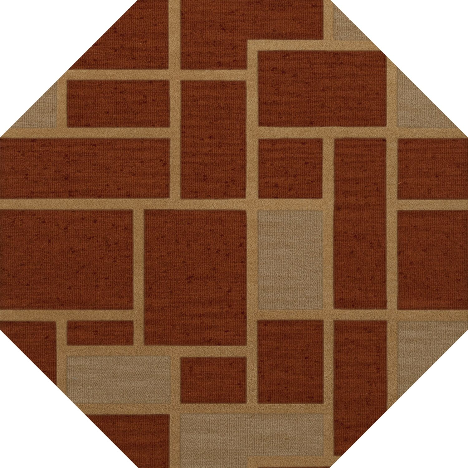 Hallenbeck Wool Wheat Area Rug Rug Size: Octagon 6'