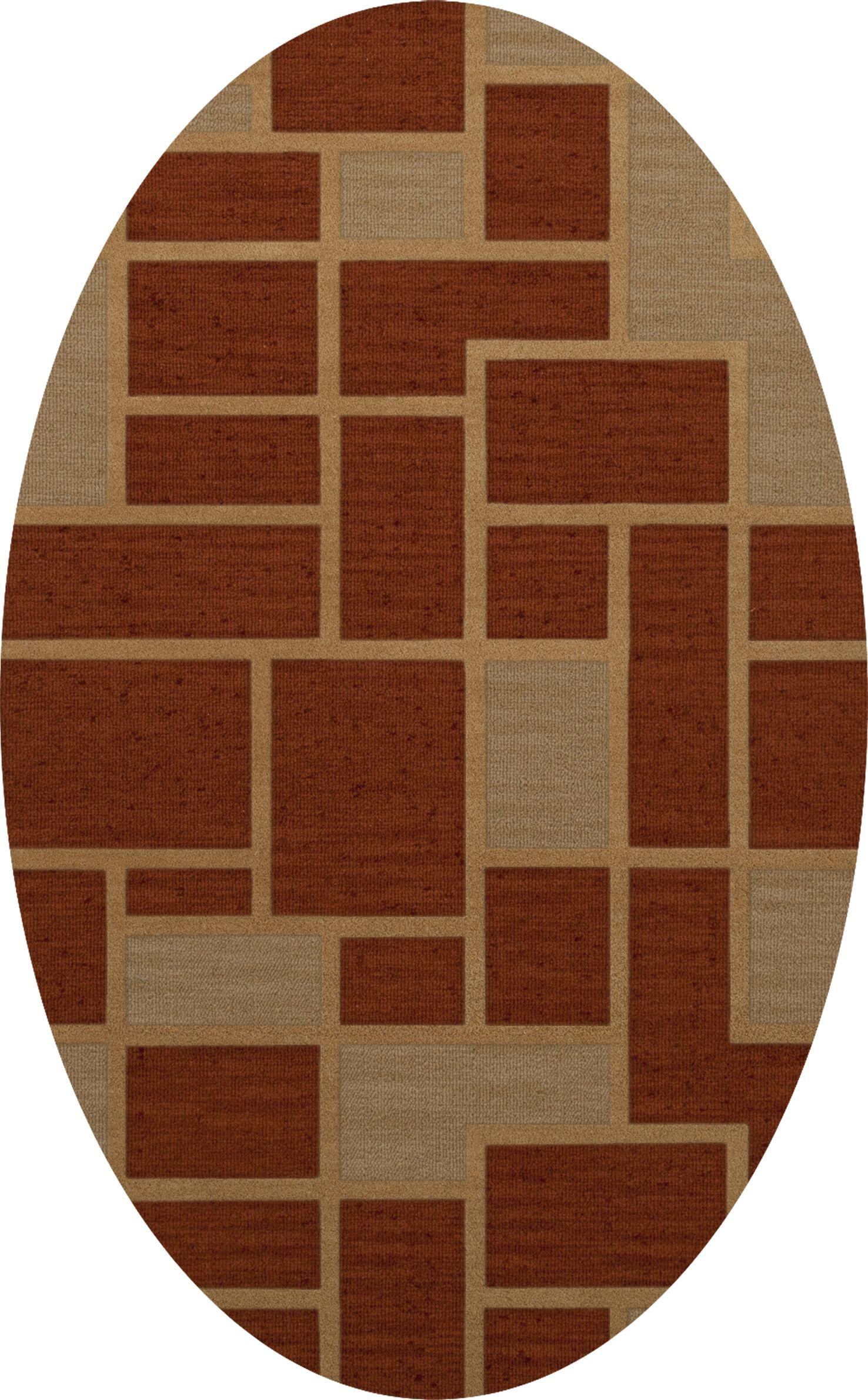 Hallenbeck Wool Wheat Area Rug Rug Size: Oval 8' x 10'