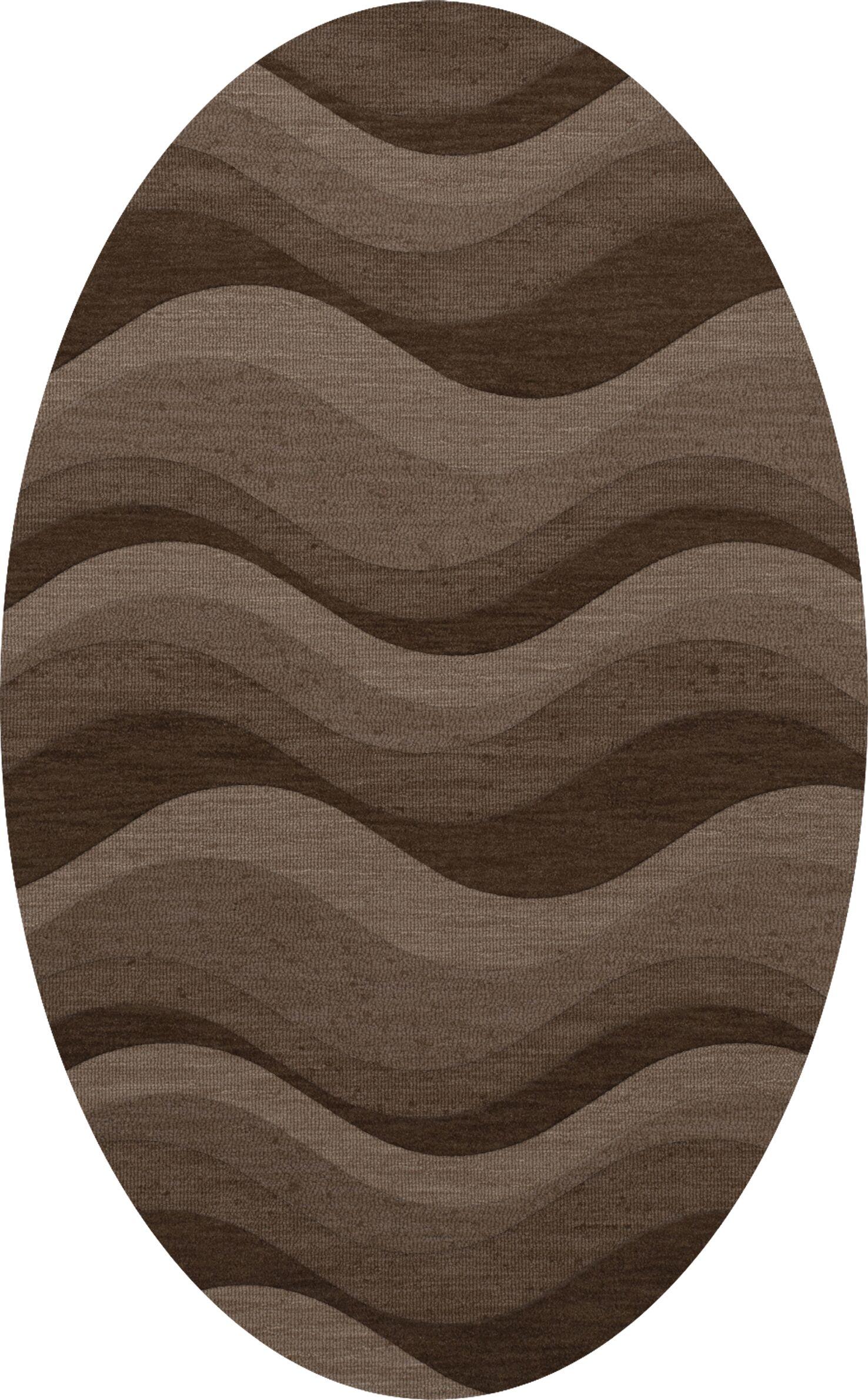 Haller Wool Chipmunk Area Rug Rug Size: Oval 10' x 14'