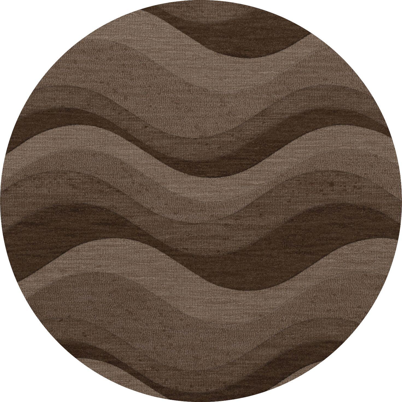 Haller Wool Chipmunk Area Rug Rug Size: Round 12'