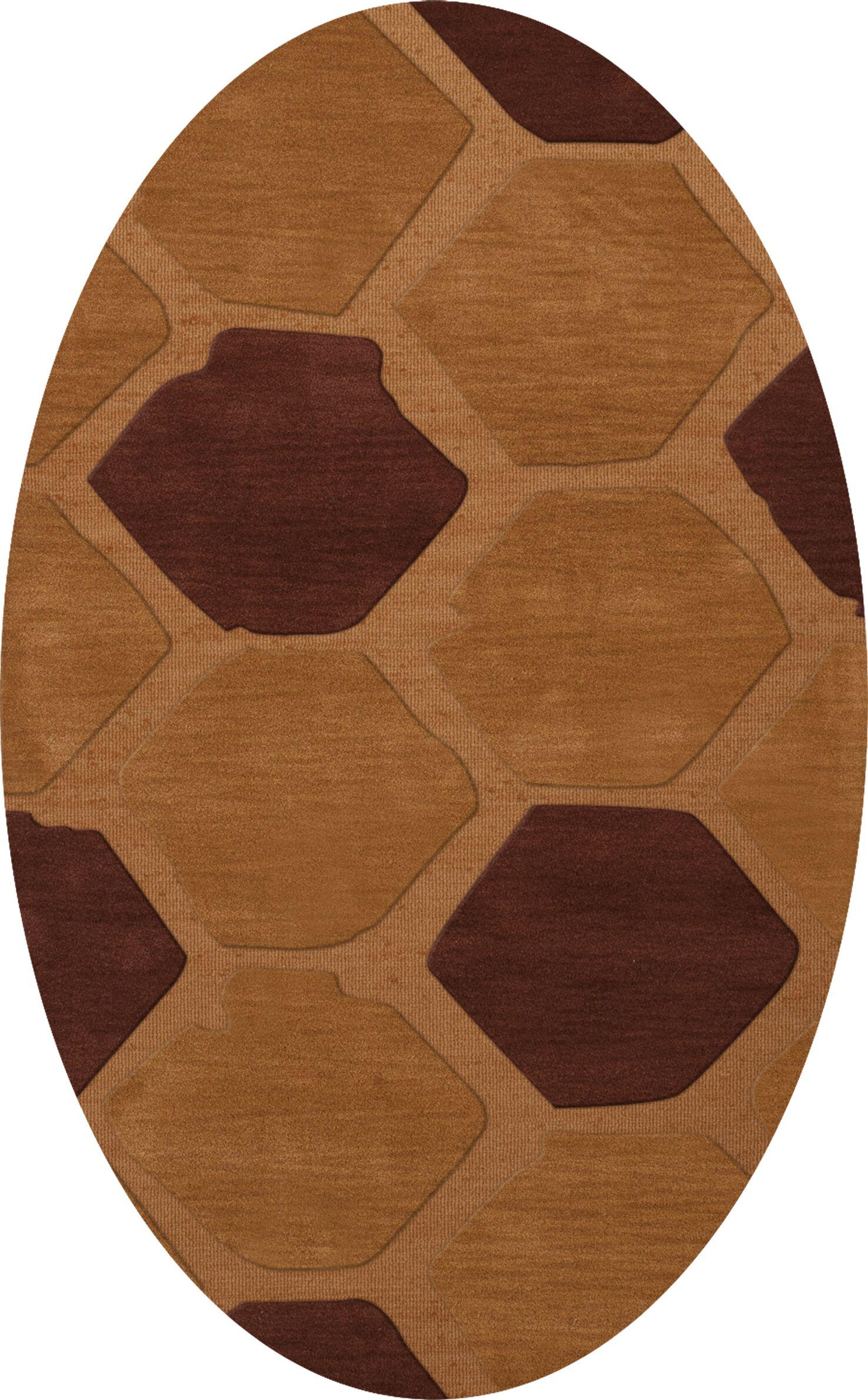 Hamswell Wool Cider Area Rug Rug Size: Oval 9' x 12'
