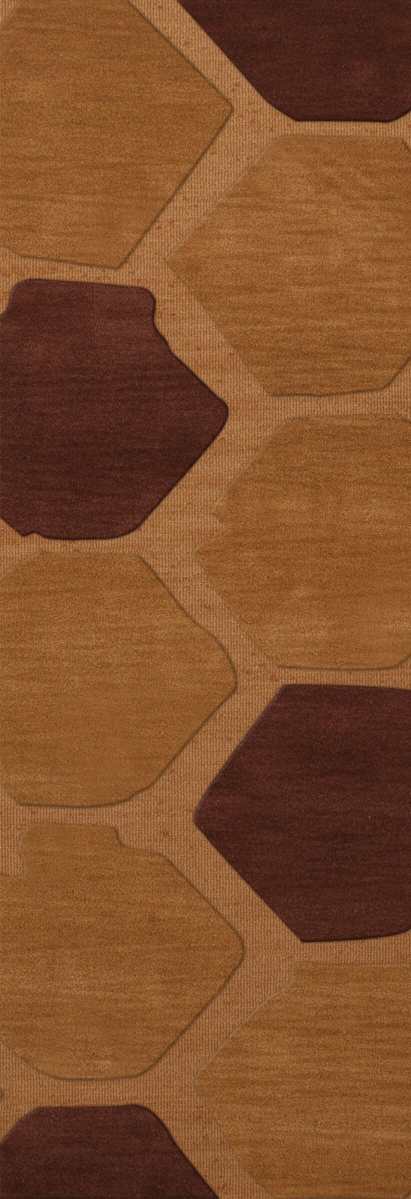 Hamswell Wool Cider Area Rug Rug Size: Runner 2'6