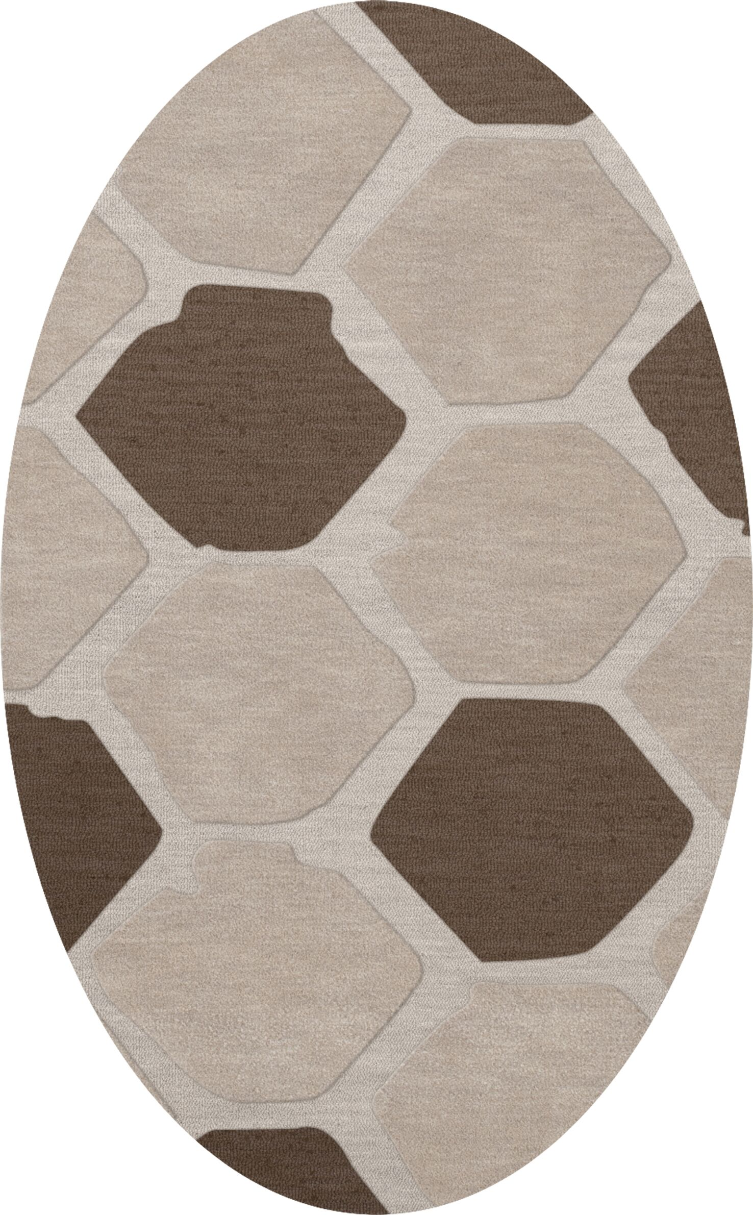 Dunson Wool Croissant Area Rug Rug Size: Oval 10' x 14'