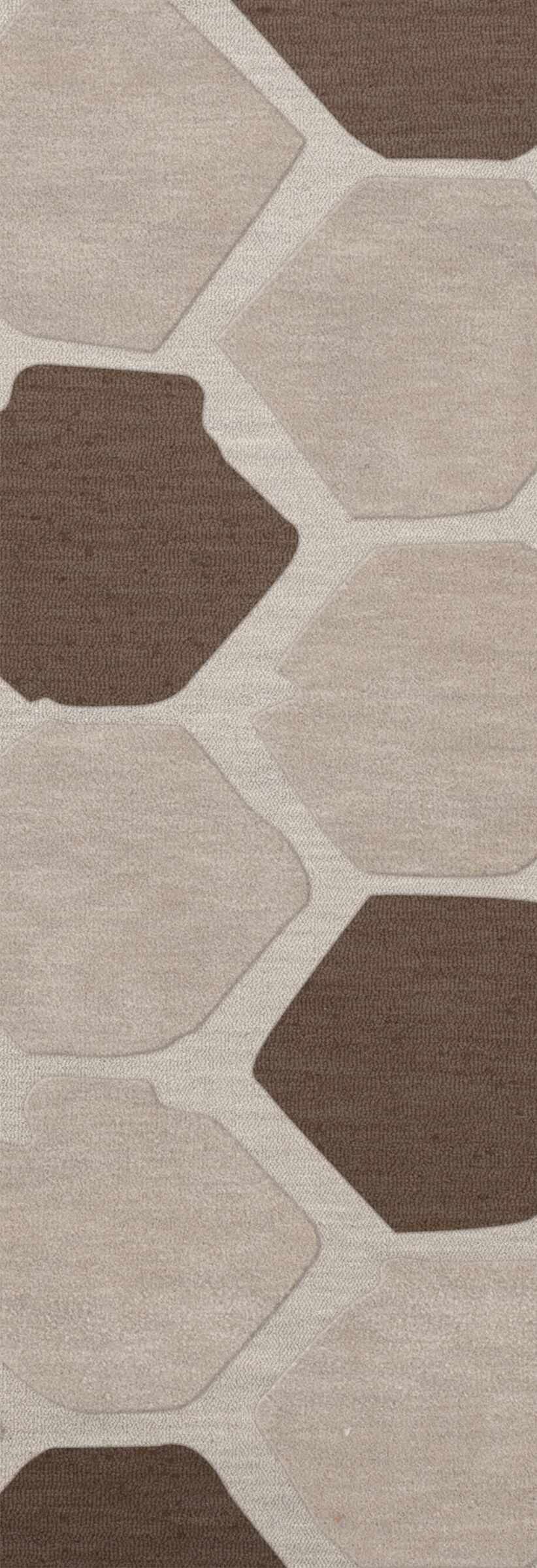 Dunson Wool Croissant Area Rug Rug Size: Runner 2'6