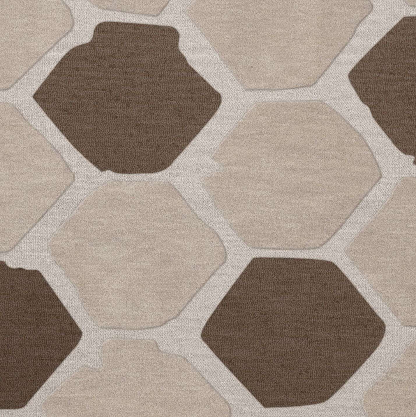 Dunson Wool Croissant Area Rug Rug Size: Square 4'
