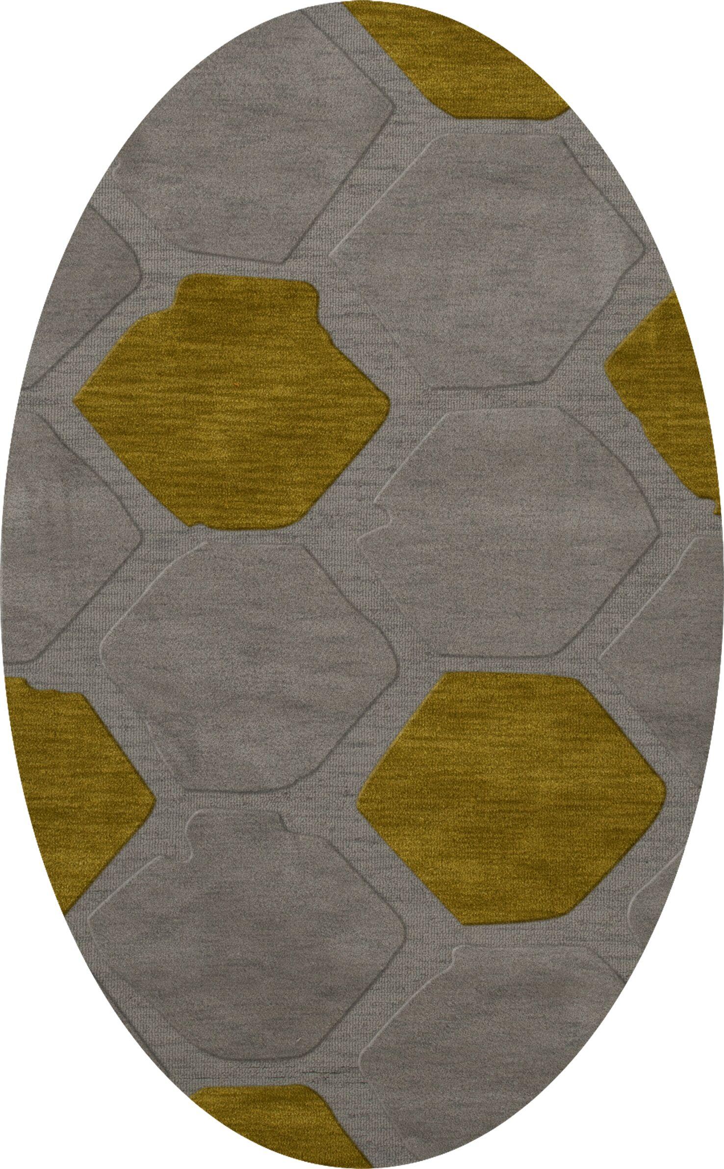 Harman Wool Flagstone Area Rug Rug Size: Oval 6' x 9'