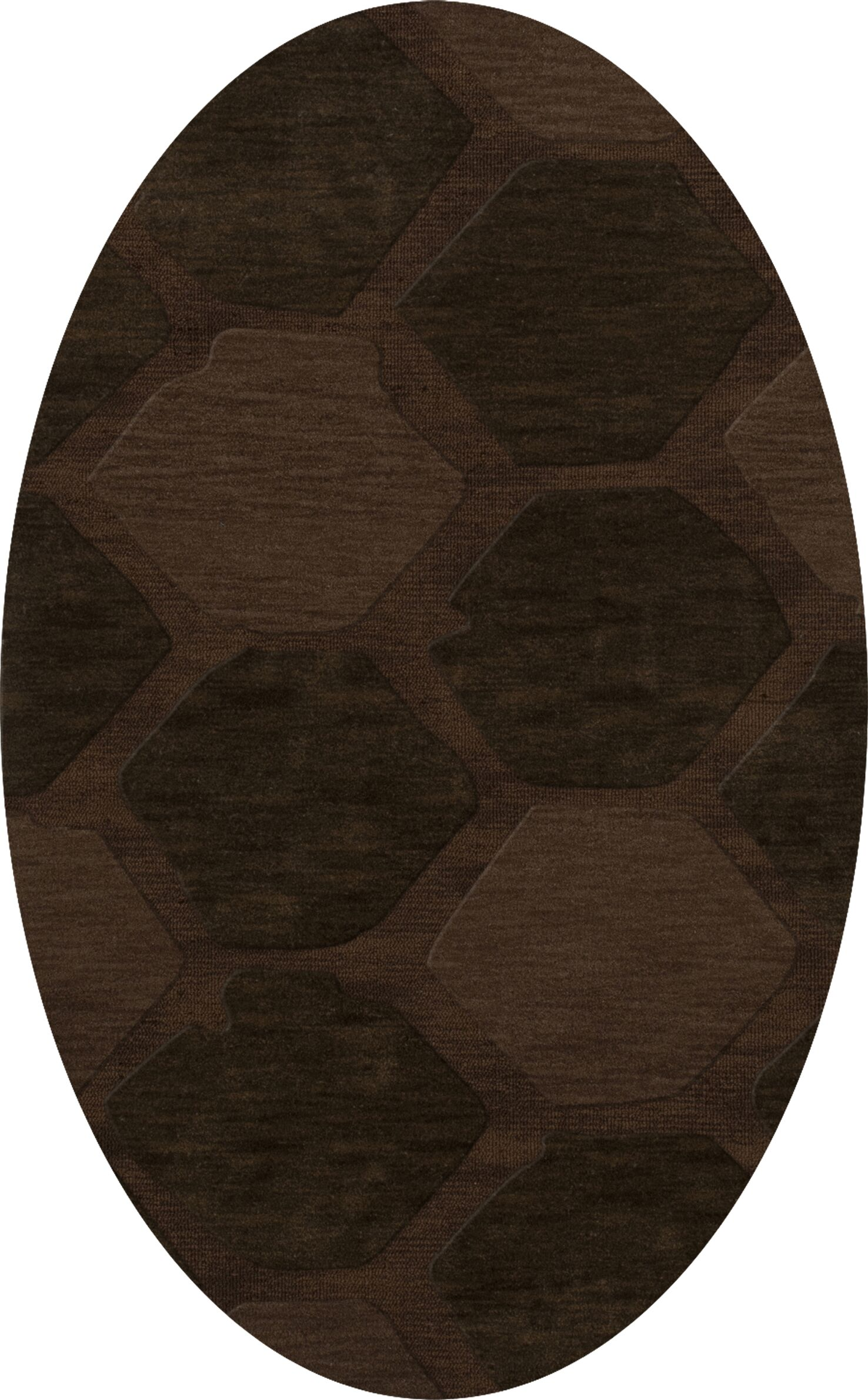 Harmonia Wool Nutmeg Area Rug Rug Size: Oval 9' x 12'