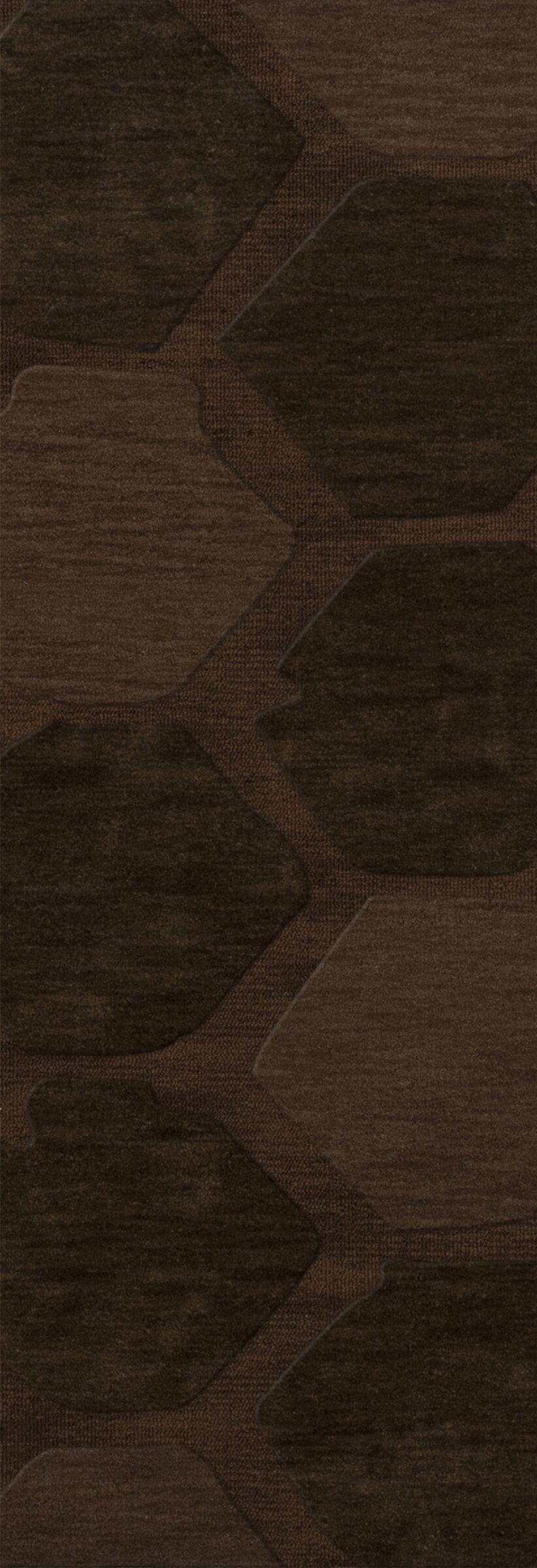 Harmonia Wool Nutmeg Area Rug Rug Size: Runner 2'6