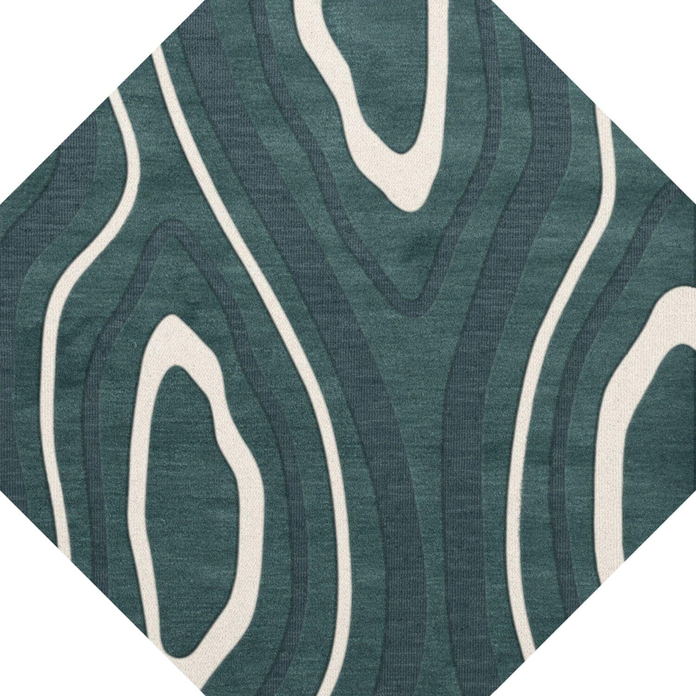 Sarahi Wool Geyser Area Rug Rug Size: Octagon 8'