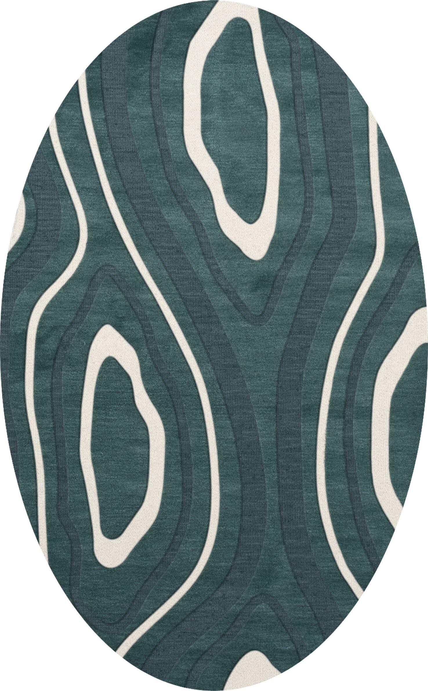 Sarahi Wool Geyser Area Rug Rug Size: Oval 10' x 14'